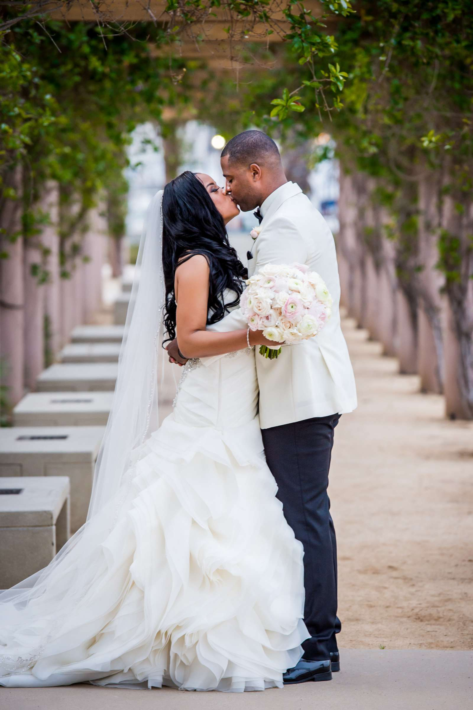 Coronado Community Center Wedding coordinated by First Comes Love Weddings & Events, Nikia and Charles Wedding Photo #2 by True Photography