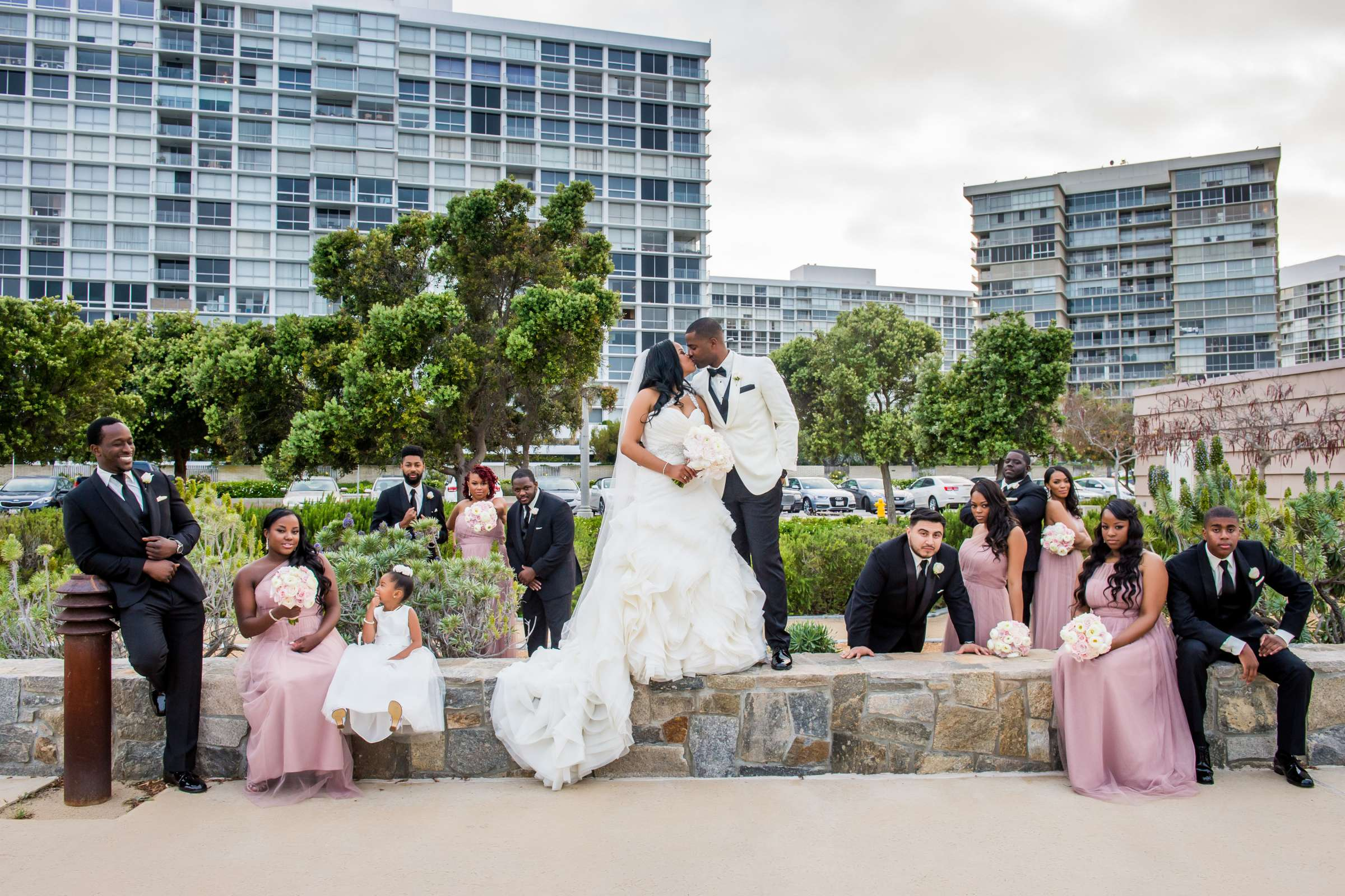 Coronado Community Center Wedding coordinated by First Comes Love Weddings & Events, Nikia and Charles Wedding Photo #7 by True Photography