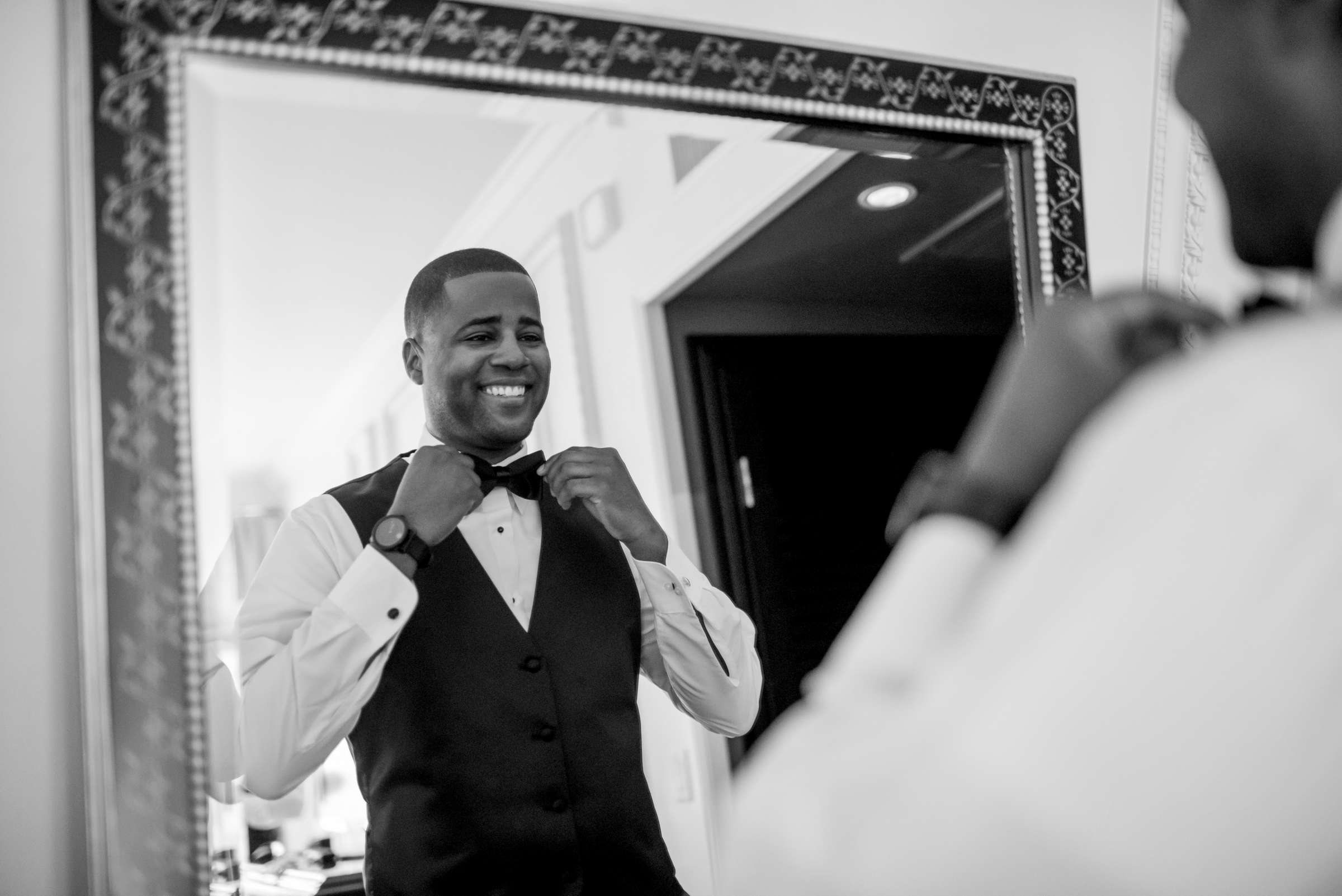 Coronado Community Center Wedding coordinated by First Comes Love Weddings & Events, Nikia and Charles Wedding Photo #11 by True Photography