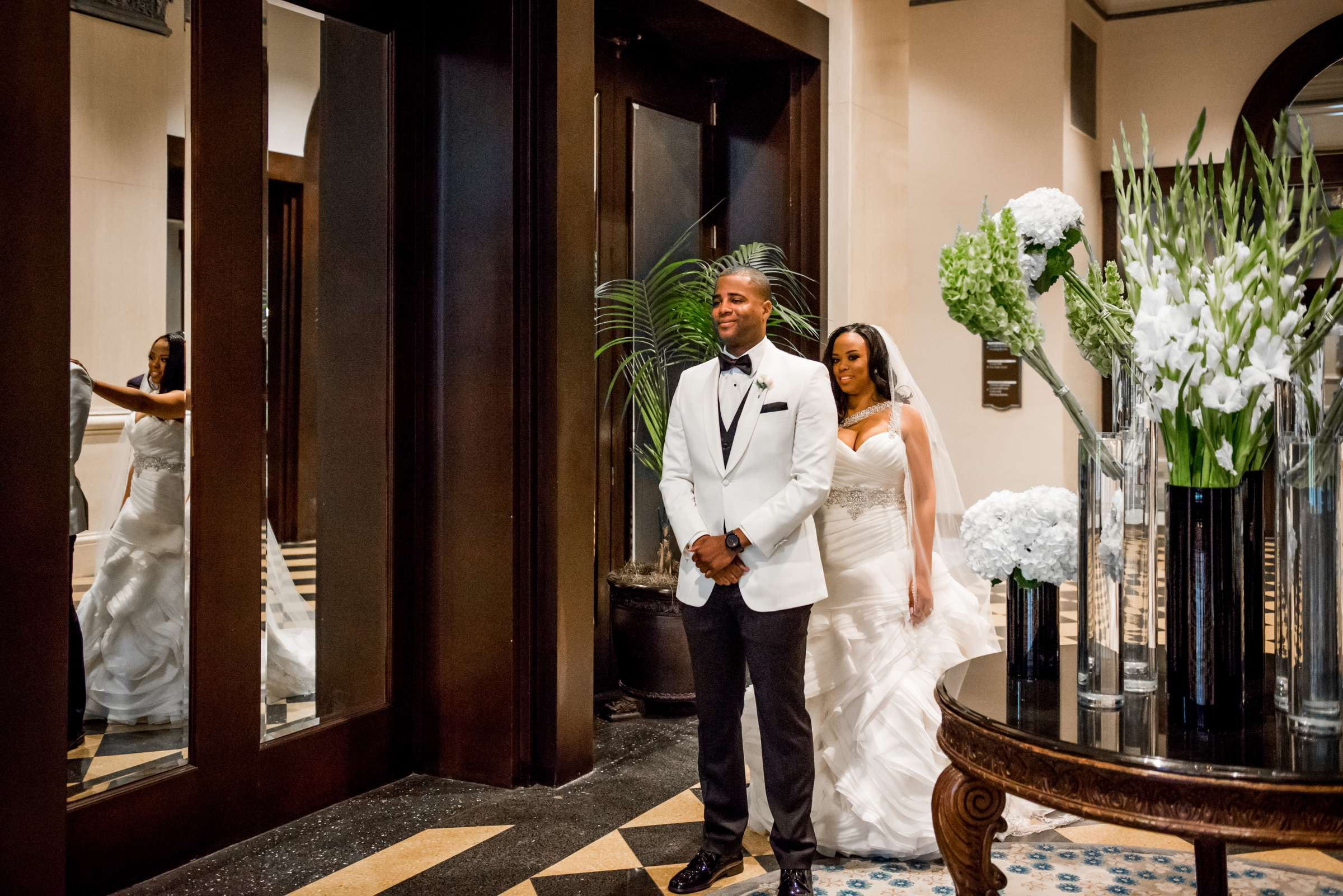 Coronado Community Center Wedding coordinated by First Comes Love Weddings & Events, Nikia and Charles Wedding Photo #36 by True Photography