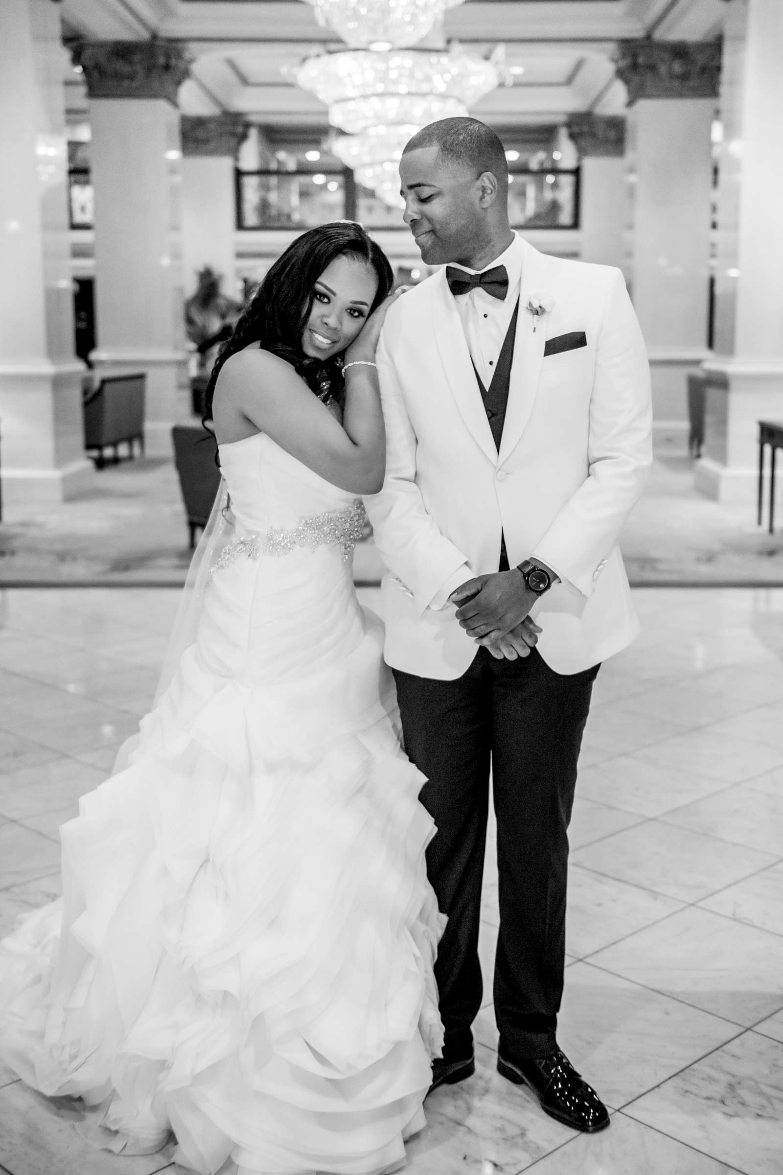 Coronado Community Center Wedding coordinated by First Comes Love Weddings & Events, Nikia and Charles Wedding Photo #43 by True Photography