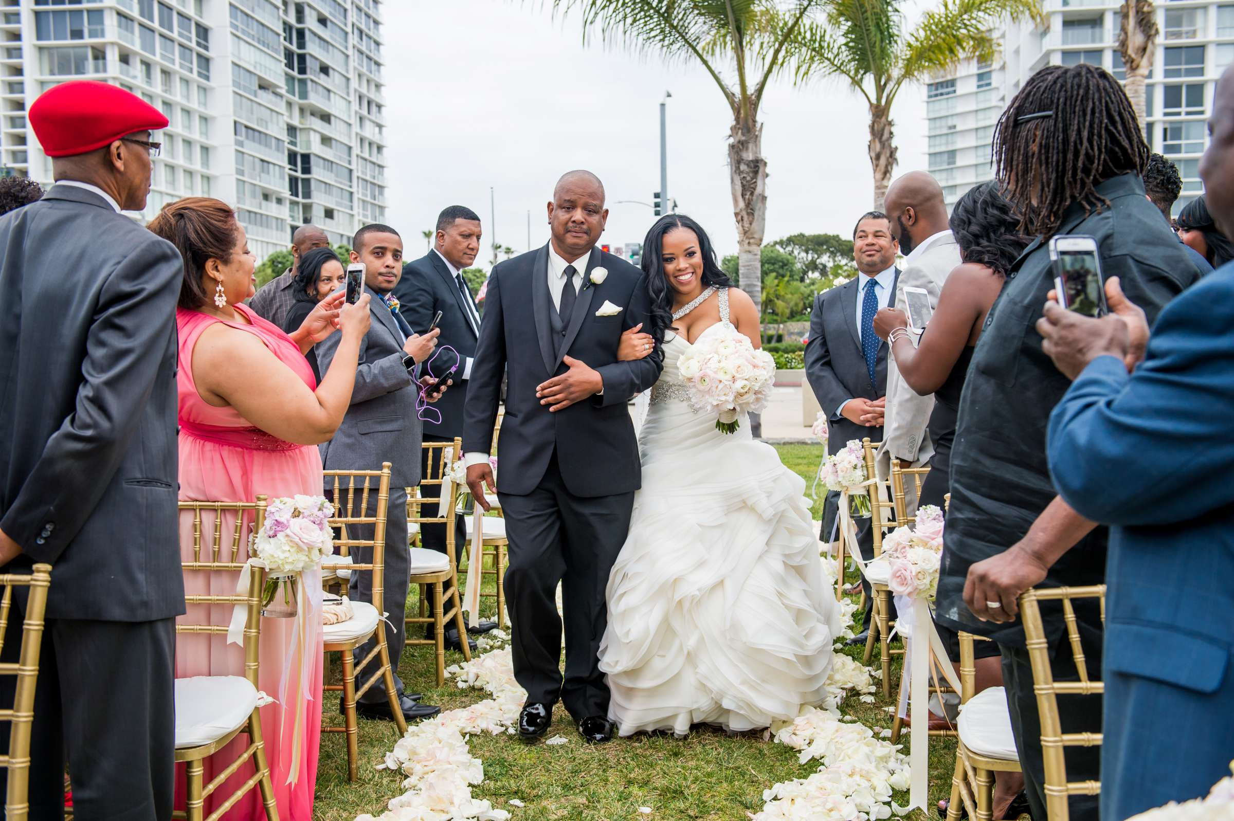 Coronado Community Center Wedding coordinated by First Comes Love Weddings & Events, Nikia and Charles Wedding Photo #48 by True Photography