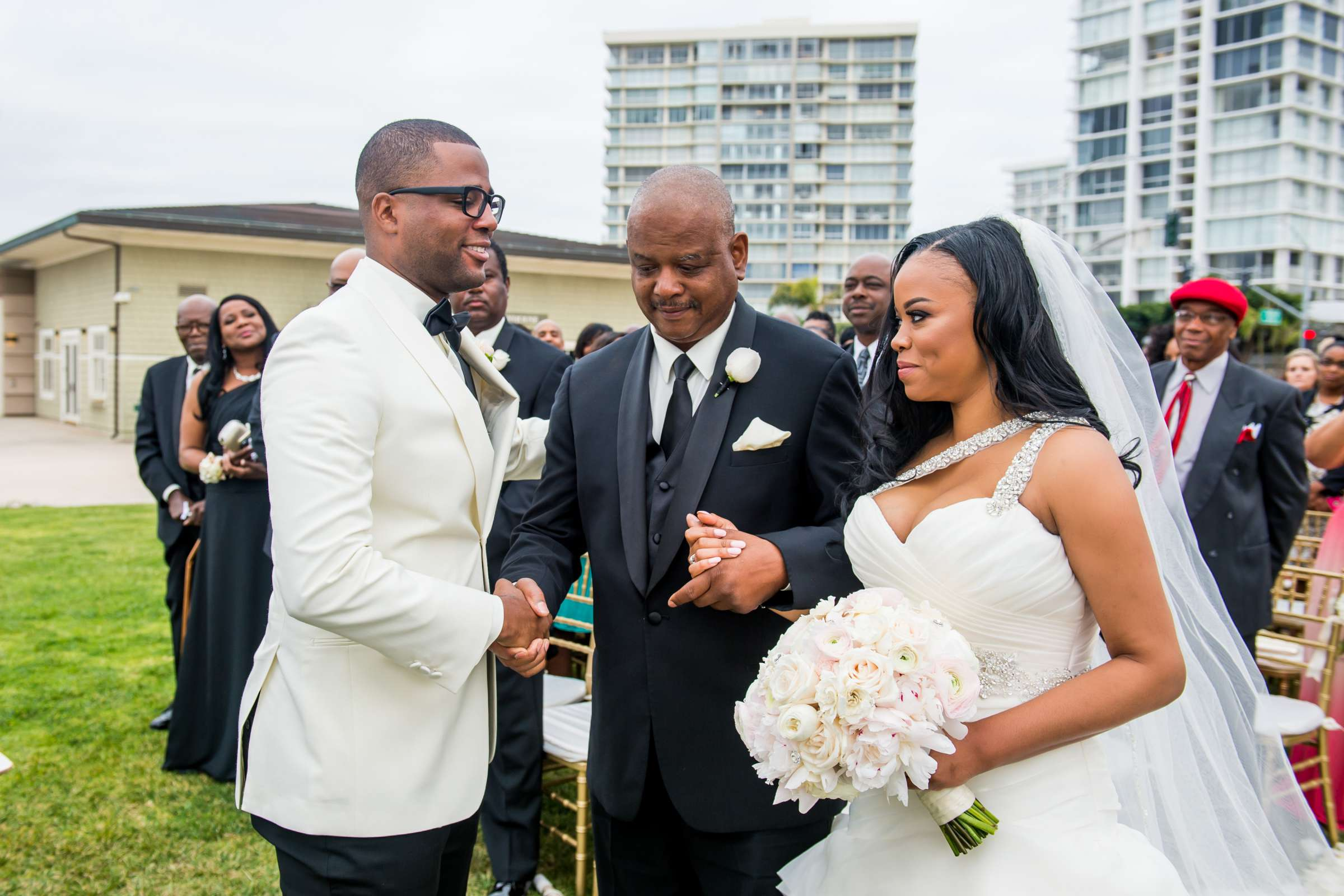 Coronado Community Center Wedding coordinated by First Comes Love Weddings & Events, Nikia and Charles Wedding Photo #49 by True Photography