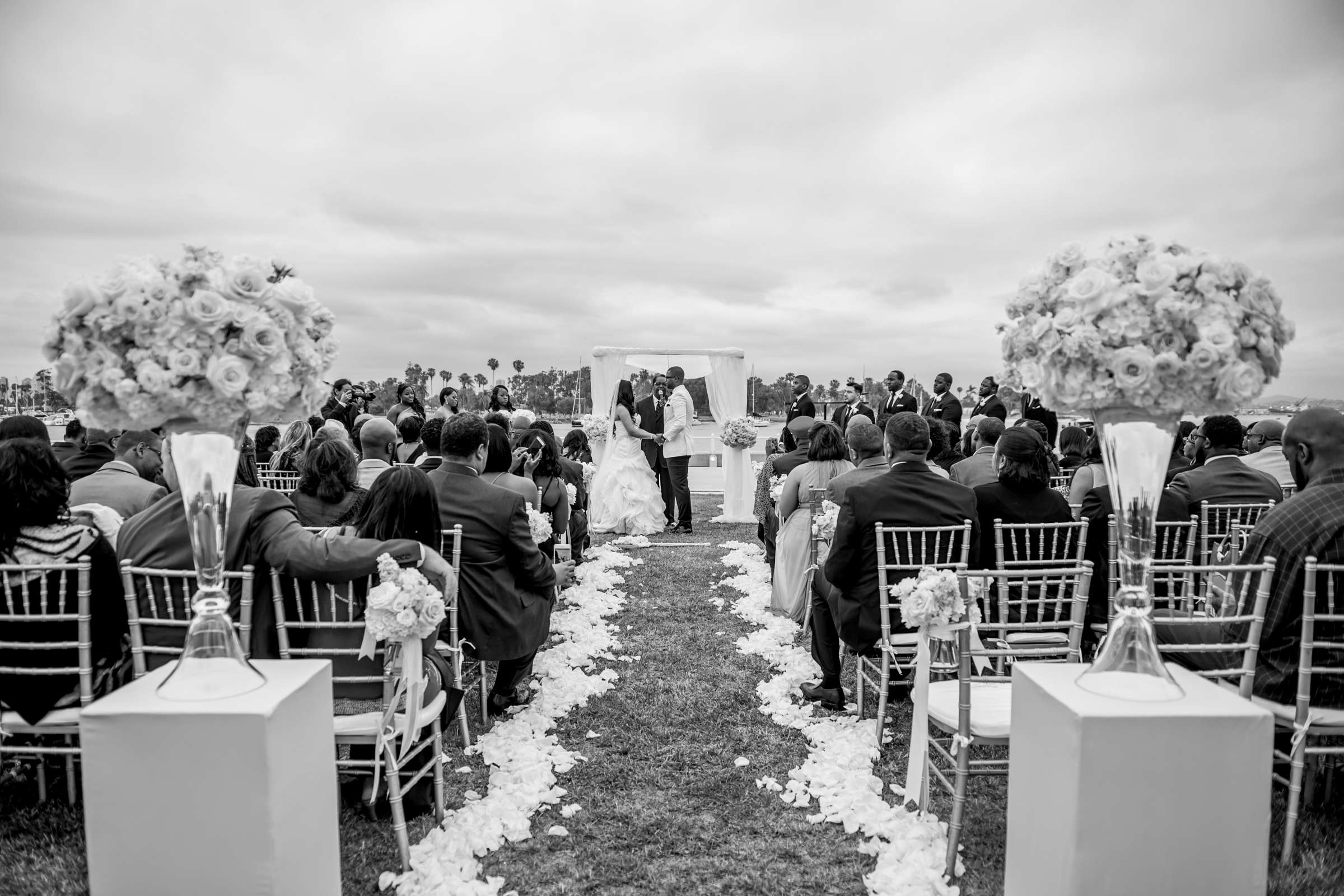 Coronado Community Center Wedding coordinated by First Comes Love Weddings & Events, Nikia and Charles Wedding Photo #51 by True Photography