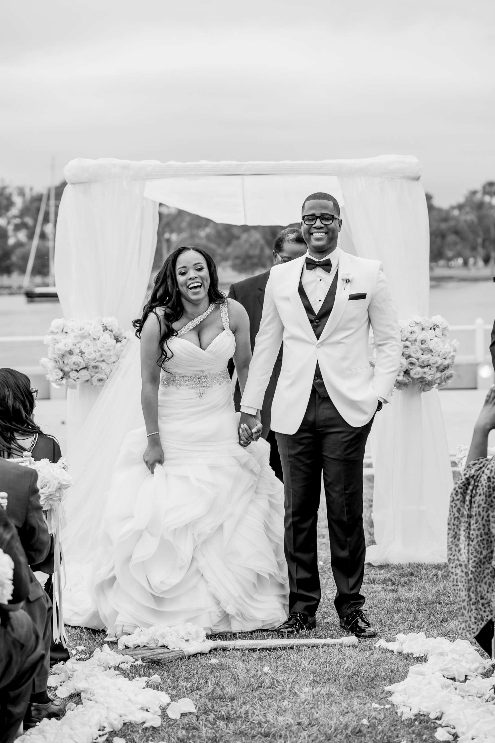 Coronado Community Center Wedding coordinated by First Comes Love Weddings & Events, Nikia and Charles Wedding Photo #56 by True Photography