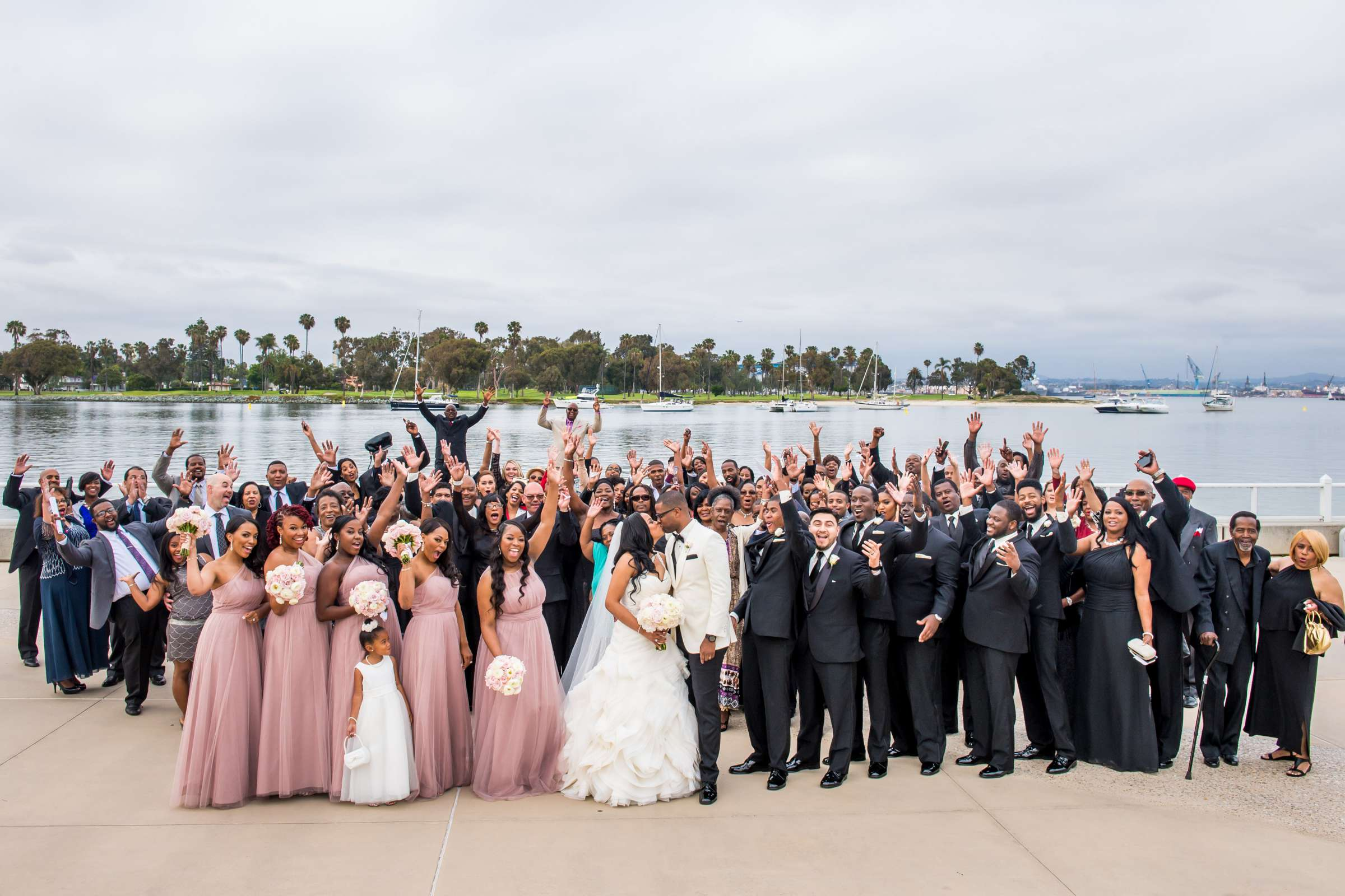 Coronado Community Center Wedding coordinated by First Comes Love Weddings & Events, Nikia and Charles Wedding Photo #58 by True Photography