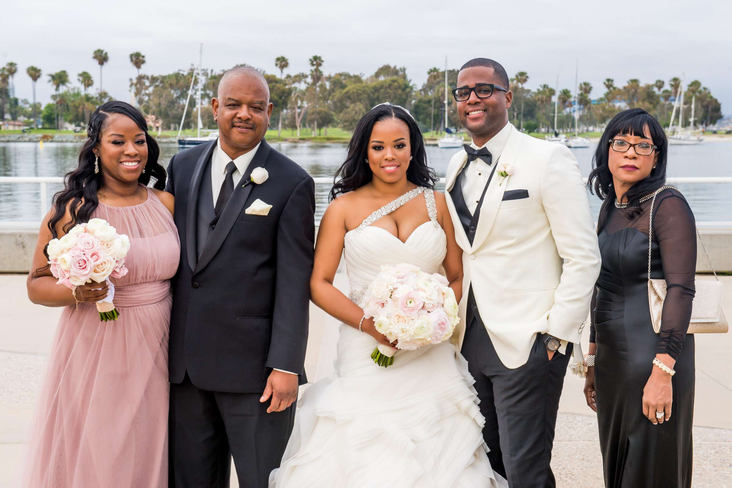 Coronado Community Center Wedding coordinated by First Comes Love Weddings & Events, Nikia and Charles Wedding Photo #59 by True Photography