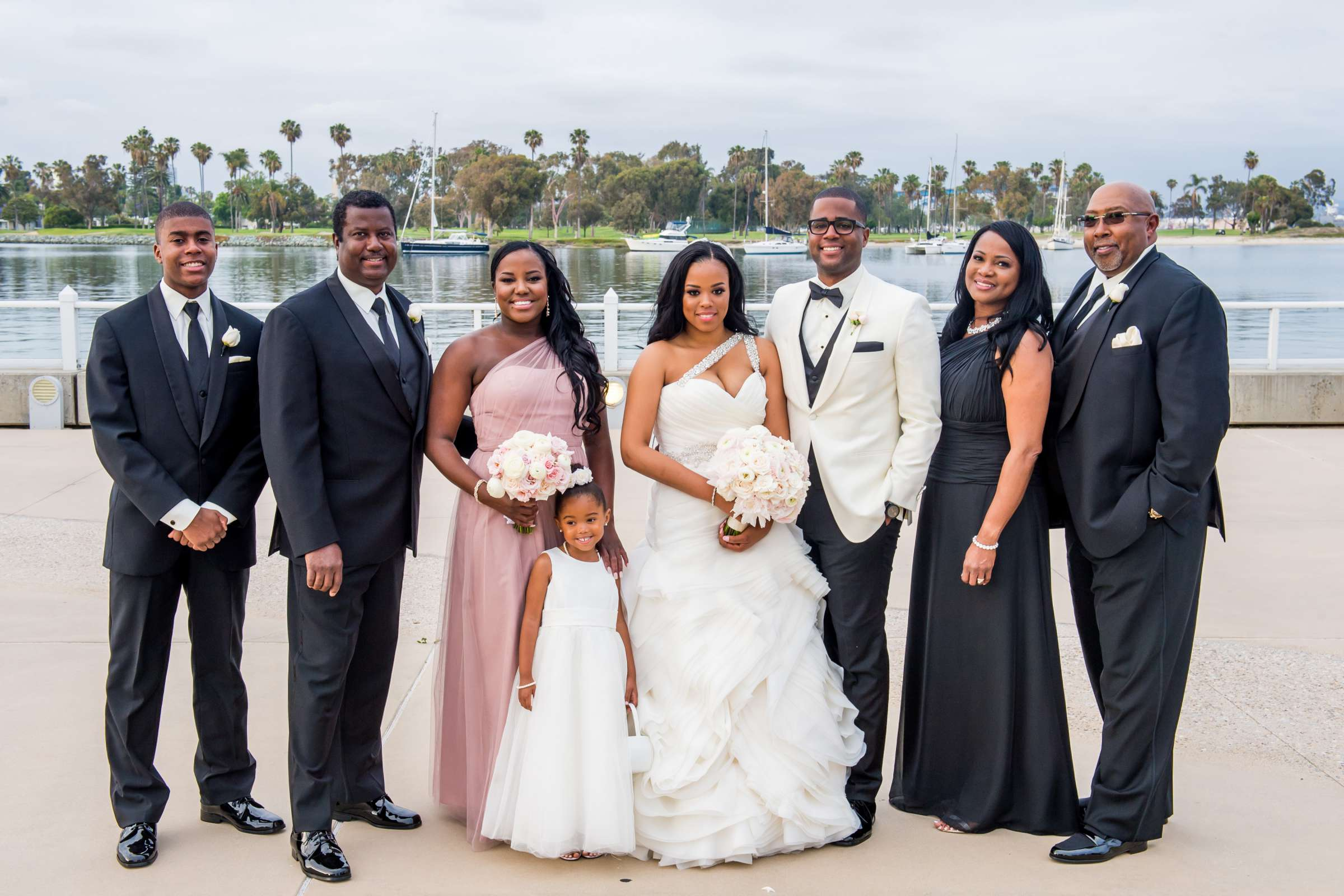 Coronado Community Center Wedding coordinated by First Comes Love Weddings & Events, Nikia and Charles Wedding Photo #60 by True Photography