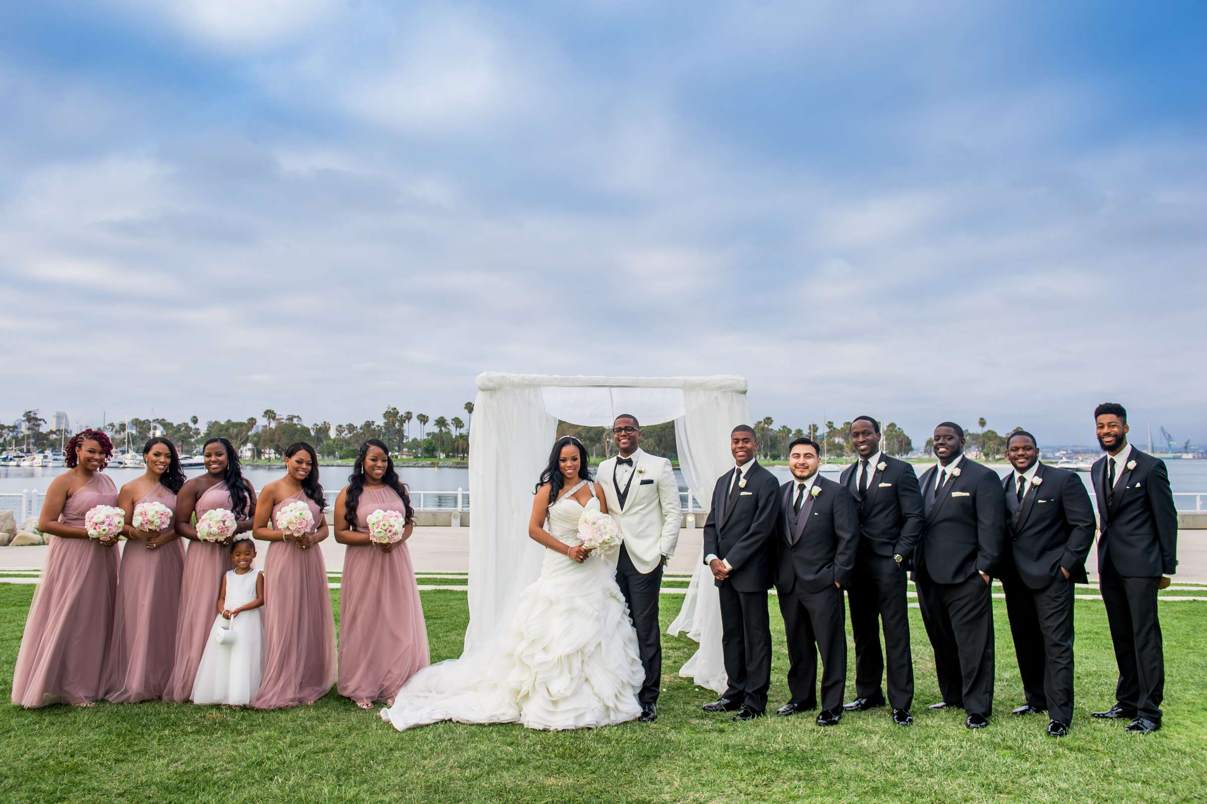 Coronado Community Center Wedding coordinated by First Comes Love Weddings & Events, Nikia and Charles Wedding Photo #64 by True Photography