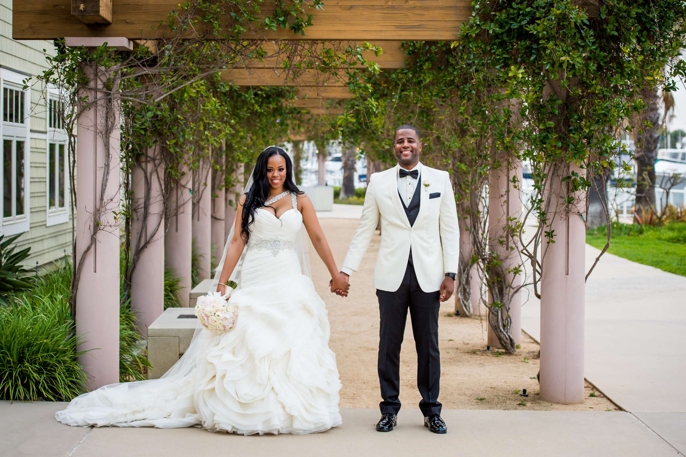 Coronado Community Center Wedding coordinated by First Comes Love Weddings & Events, Nikia and Charles Wedding Photo #65 by True Photography