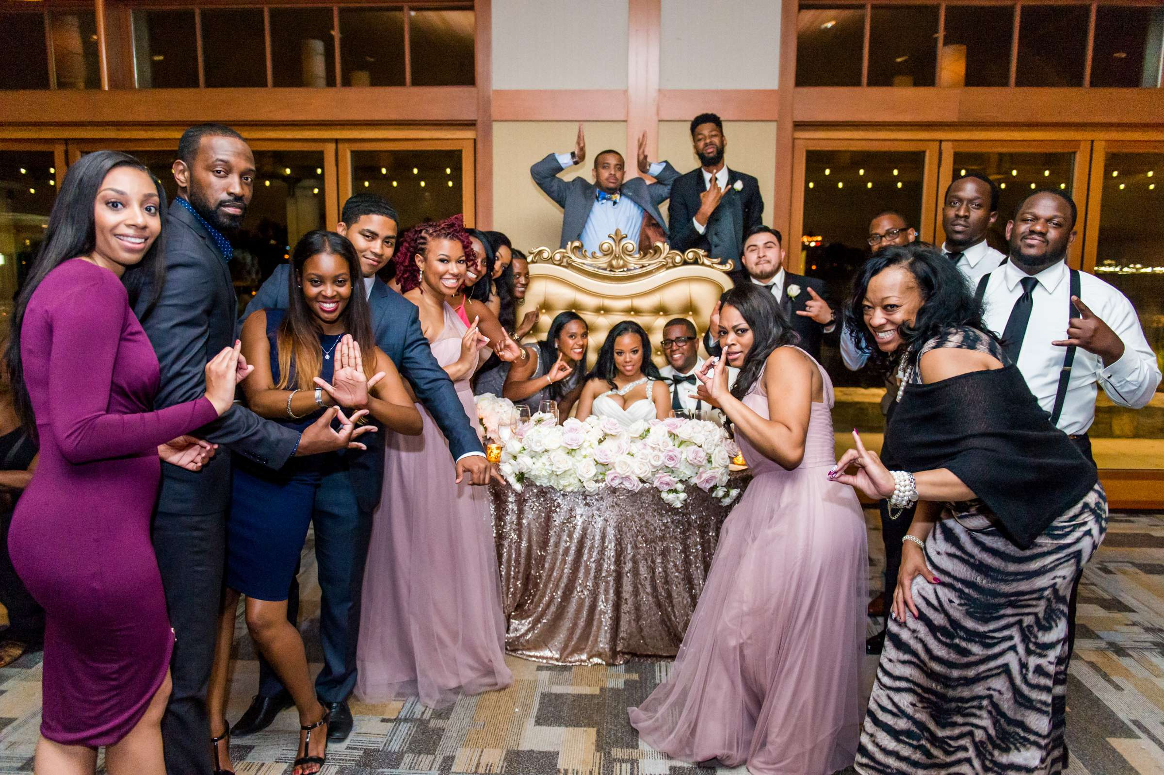 Coronado Community Center Wedding coordinated by First Comes Love Weddings & Events, Nikia and Charles Wedding Photo #103 by True Photography