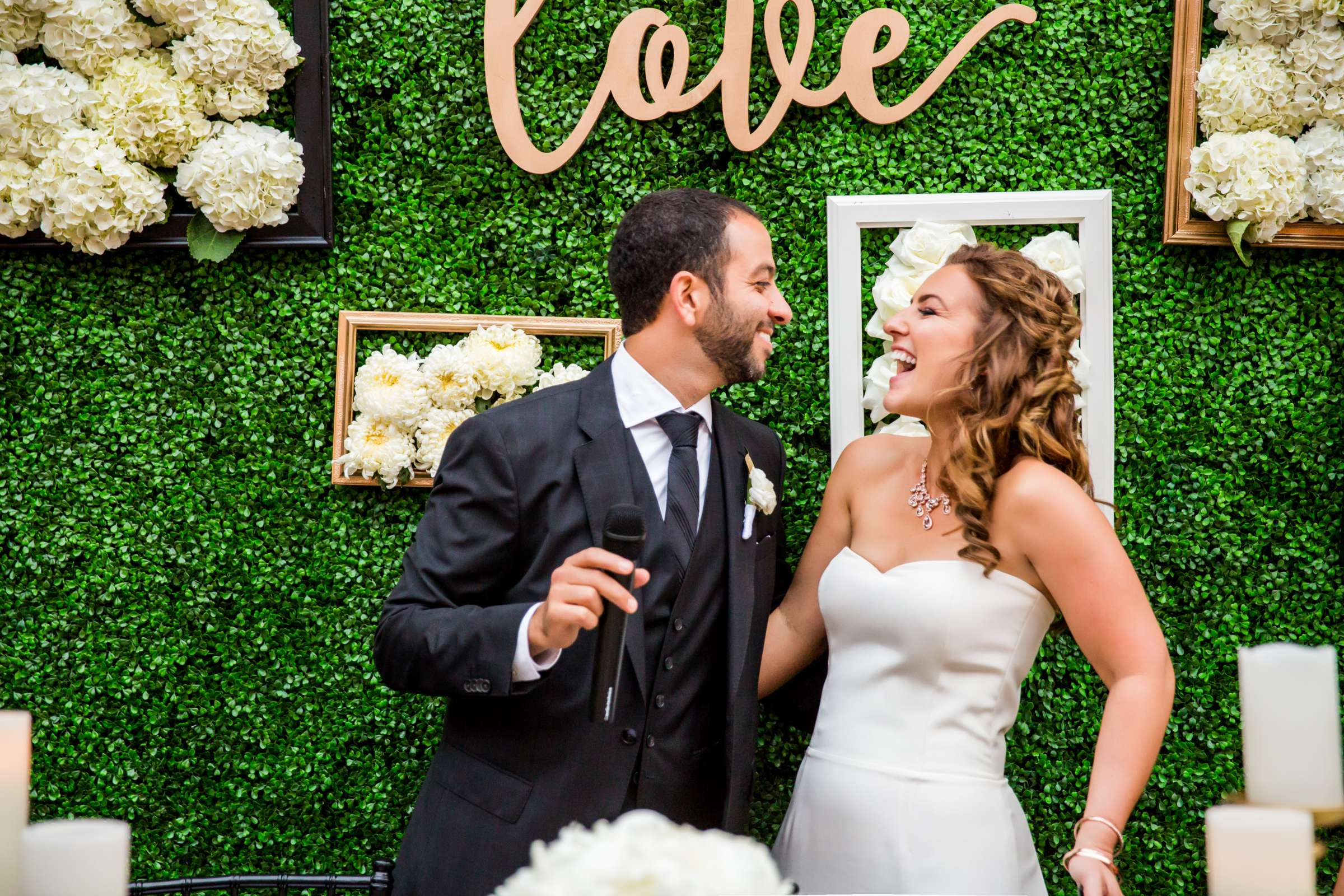 Reception, Candid moment at San Diego Museum of Art Wedding coordinated by First Comes Love Weddings & Events, Ruthie and Larry Wedding Photo #236743 by True Photography