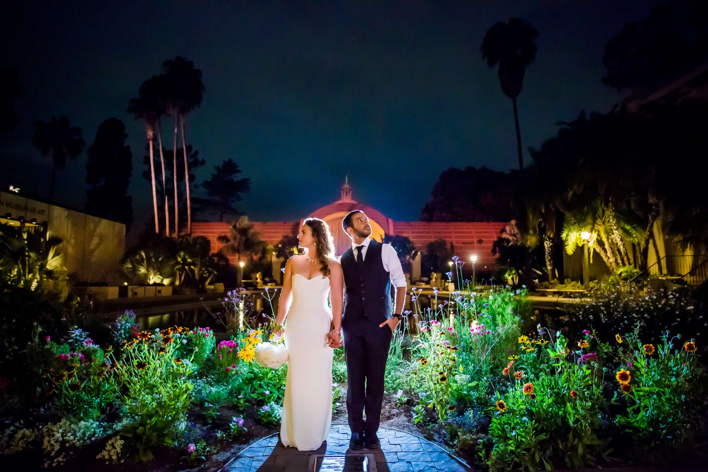 Bride and Groom, Stylized Portrait at San Diego Museum of Art Wedding coordinated by First Comes Love Weddings & Events, Ruthie and Larry Wedding Photo #236745 by True Photography