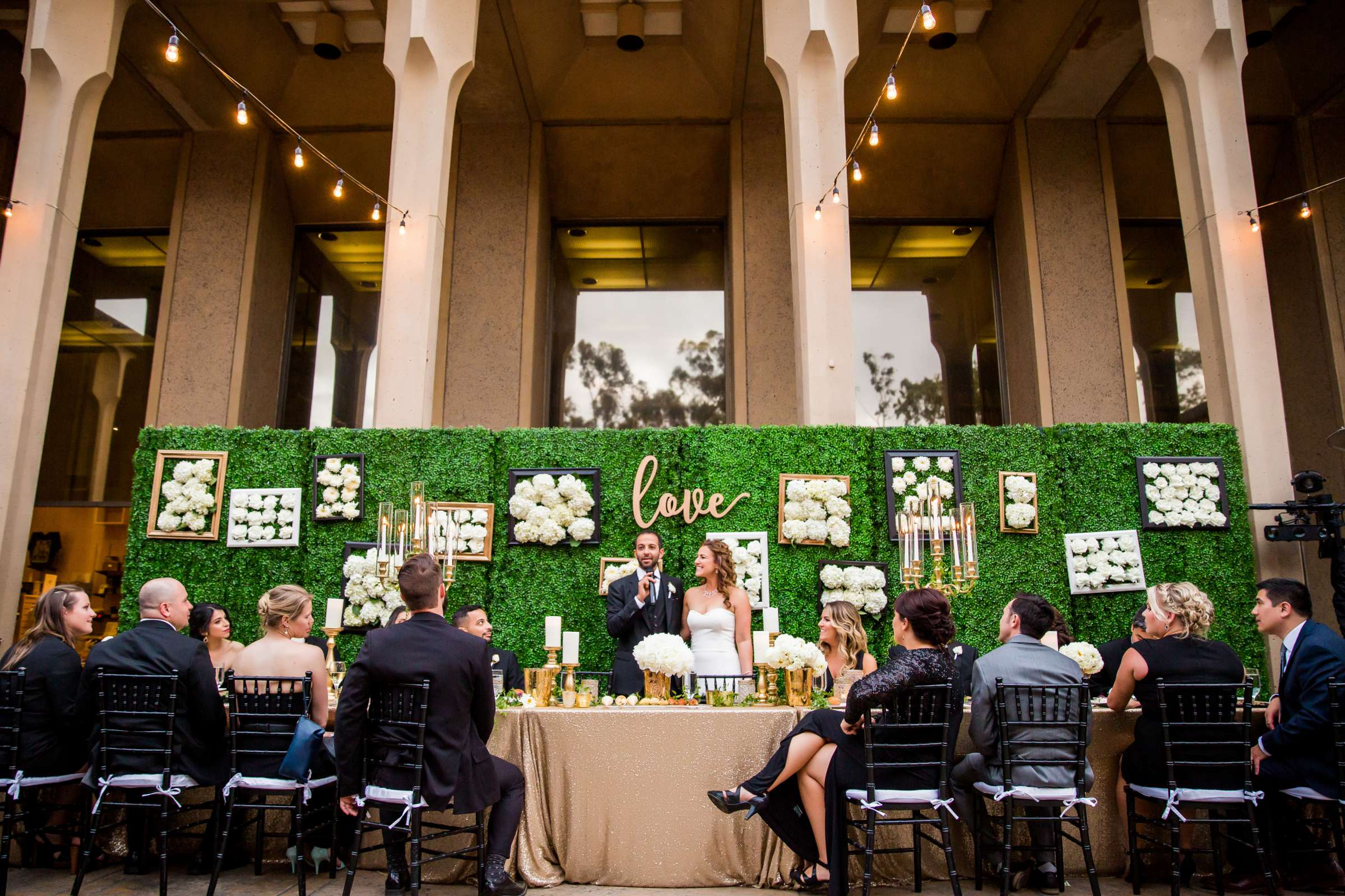 Reception at San Diego Museum of Art Wedding coordinated by First Comes Love Weddings & Events, Ruthie and Larry Wedding Photo #236847 by True Photography
