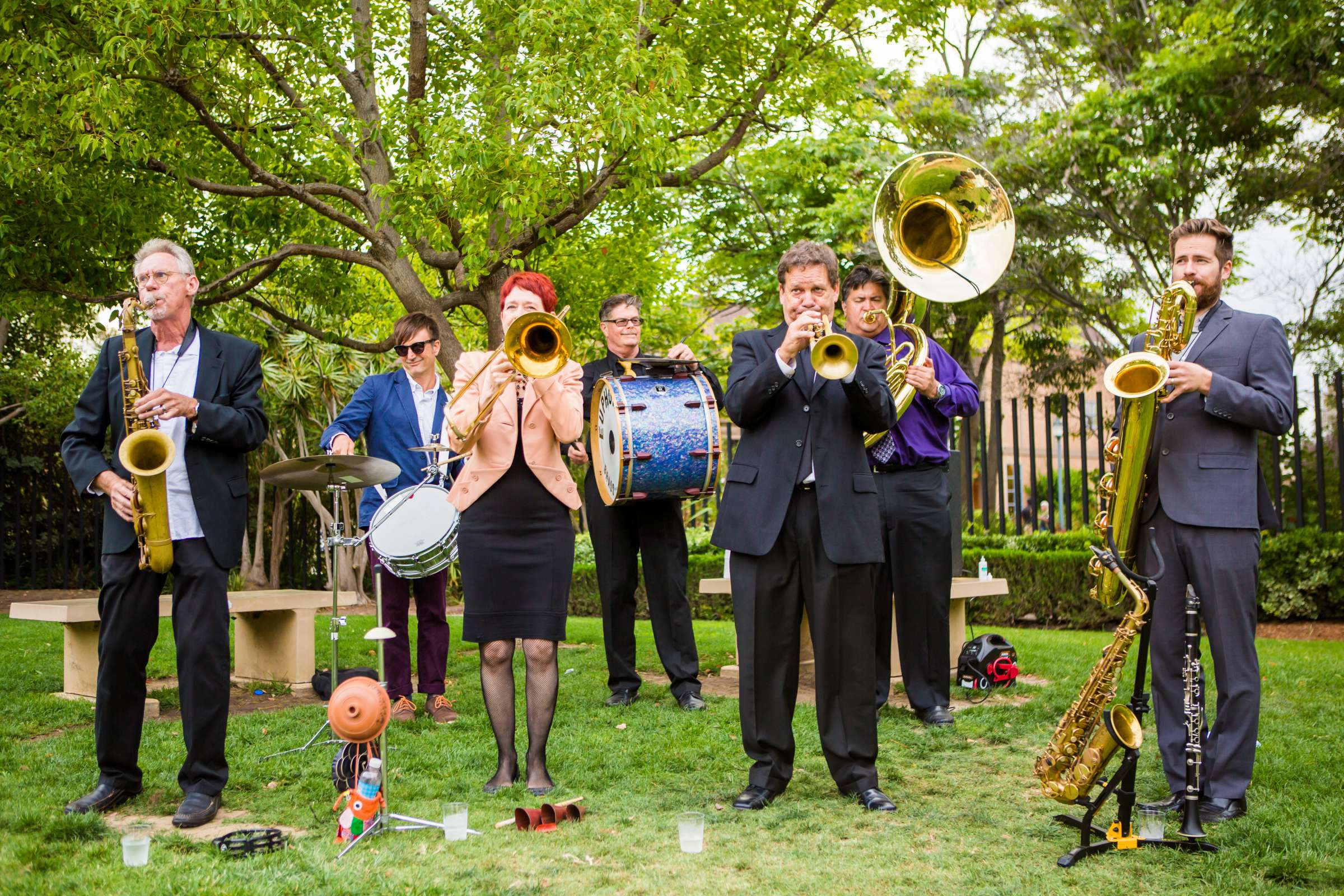 Musicians at San Diego Museum of Art Wedding coordinated by First Comes Love Weddings & Events, Ruthie and Larry Wedding Photo #236874 by True Photography