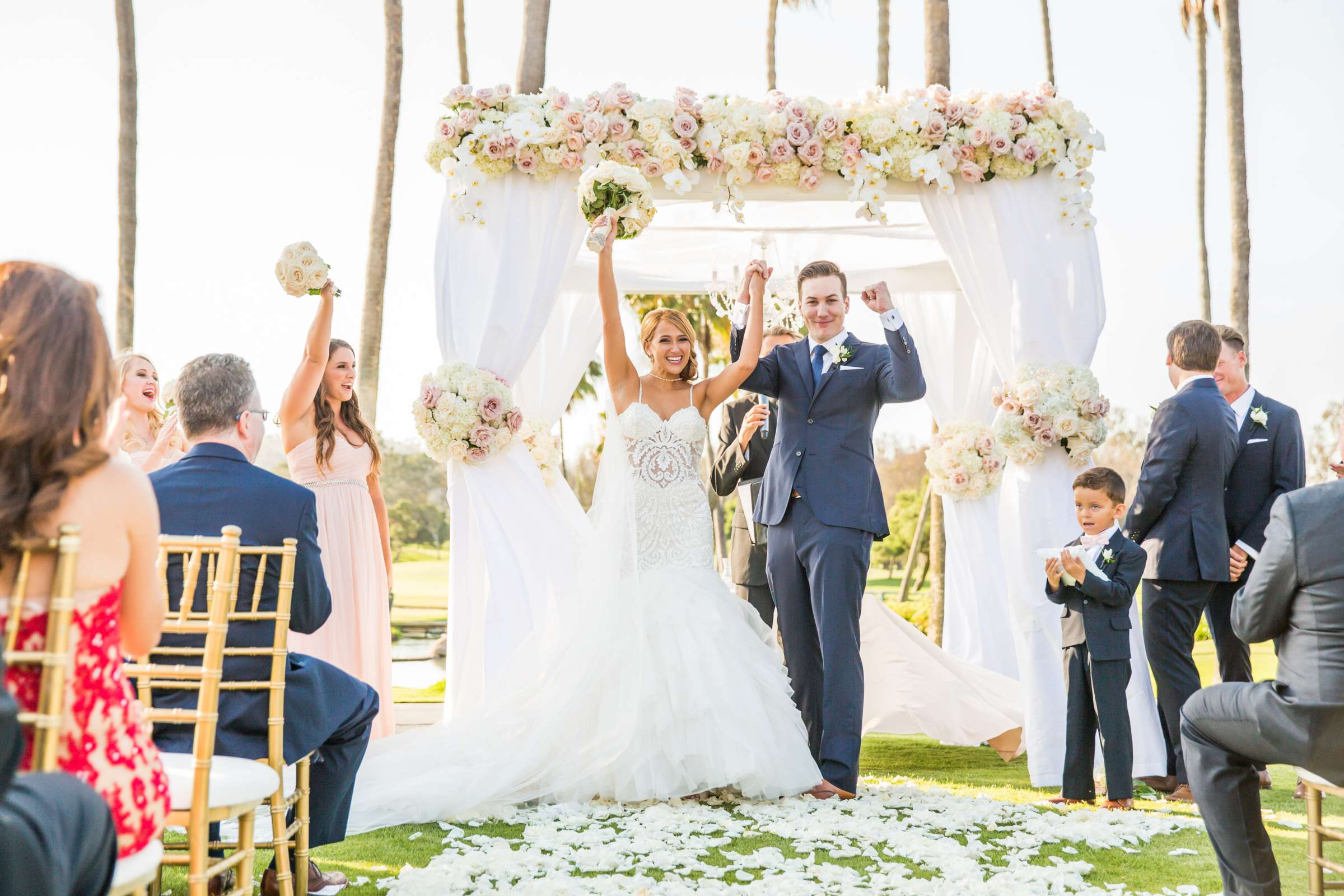 Fairbanks Ranch Country Club Wedding coordinated by Monarch Weddings, Gabriella and Kyle Wedding Photo #95 by True Photography