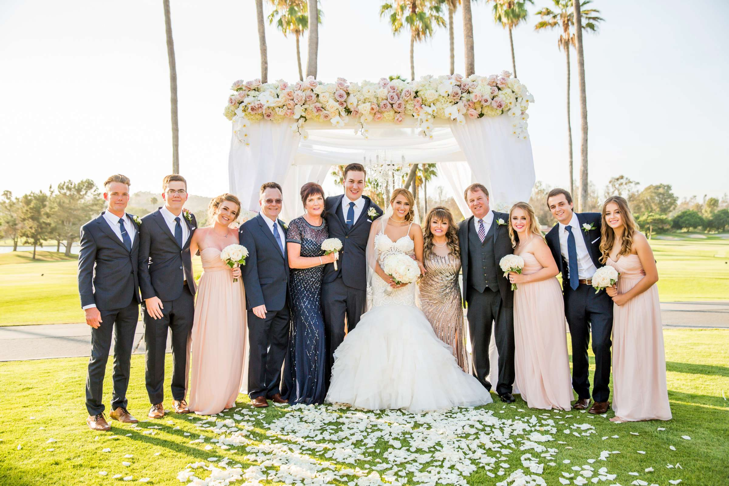 Fairbanks Ranch Country Club Wedding coordinated by Monarch Weddings, Gabriella and Kyle Wedding Photo #98 by True Photography