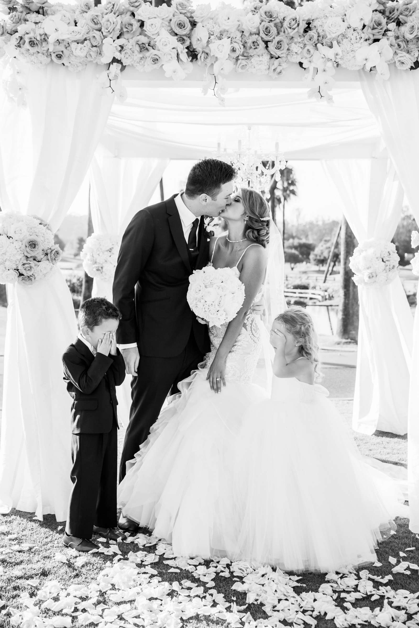 Fairbanks Ranch Country Club Wedding coordinated by Monarch Weddings, Gabriella and Kyle Wedding Photo #101 by True Photography