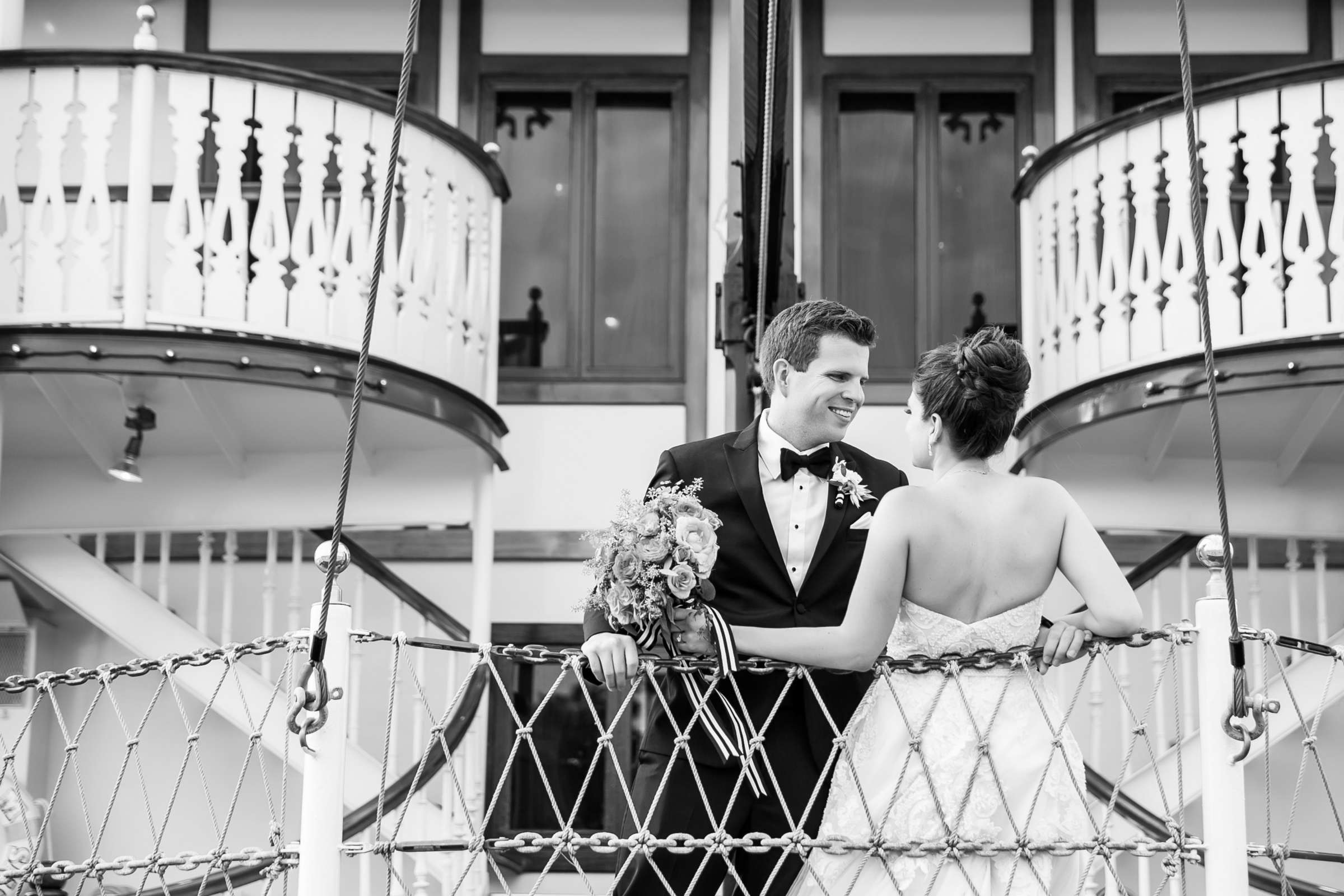 Boat Wedding at Bahia Hotel Wedding coordinated by I Do Weddings, Meredith and Jack Wedding Photo #12 by True Photography