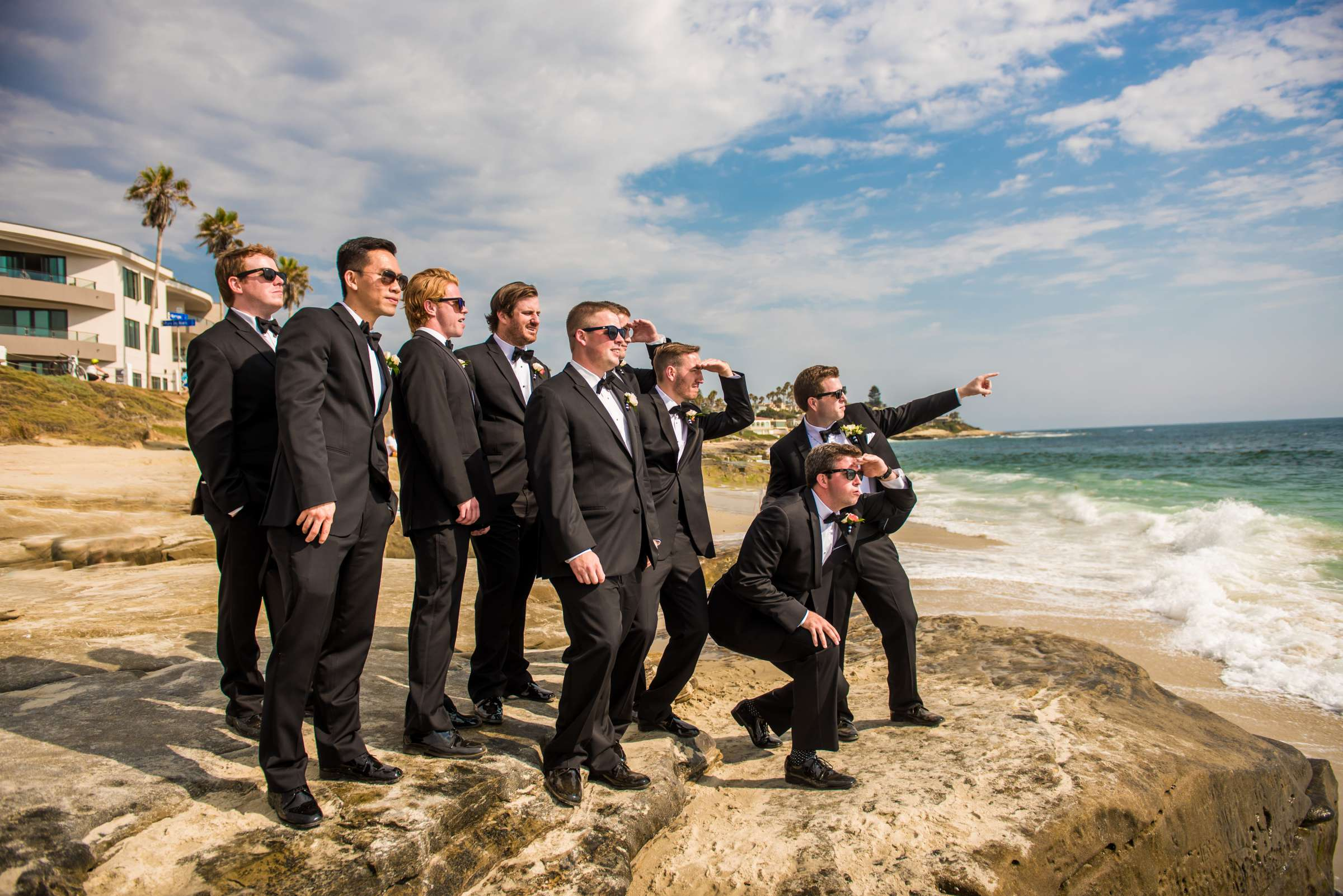 Groomsmen at Bahia Hotel Wedding coordinated by I Do Weddings, Meredith and Jack Wedding Photo #62 by True Photography