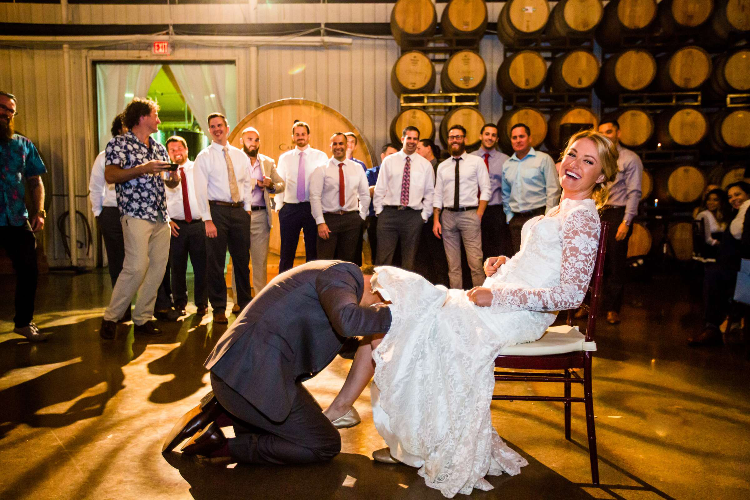 Bouquet and Garter Toss at Callaway Vineyards & Winery Wedding, Ryann and Manuel Wedding Photo #278631 by True Photography