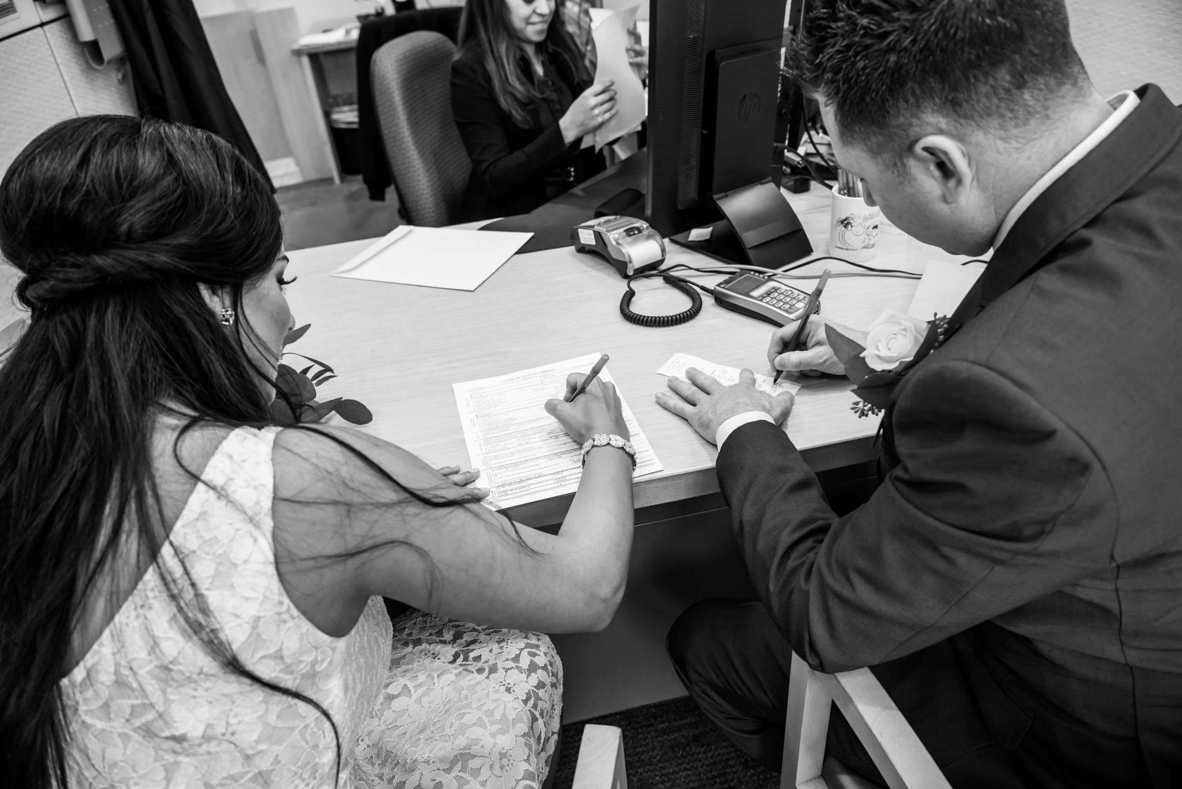 San Diego Courthouse Wedding, Alyah and Brian Wedding Photo #9 by True Photography