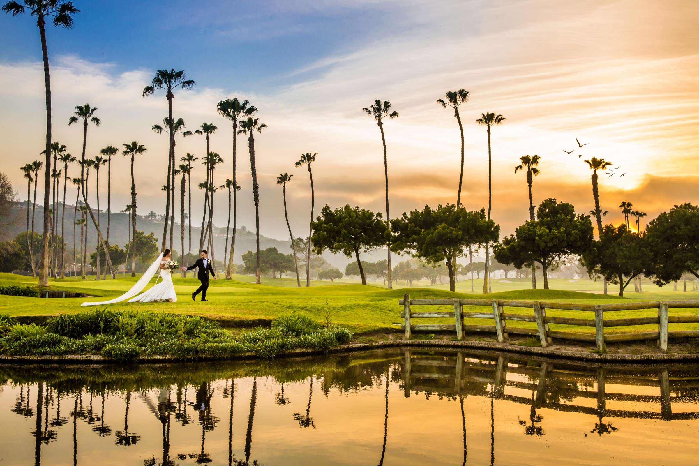 Reflection at Fairbanks Ranch Country Club Wedding coordinated by Lavish Weddings, Carmi and Loriel Wedding Photo #337396 by True Photography