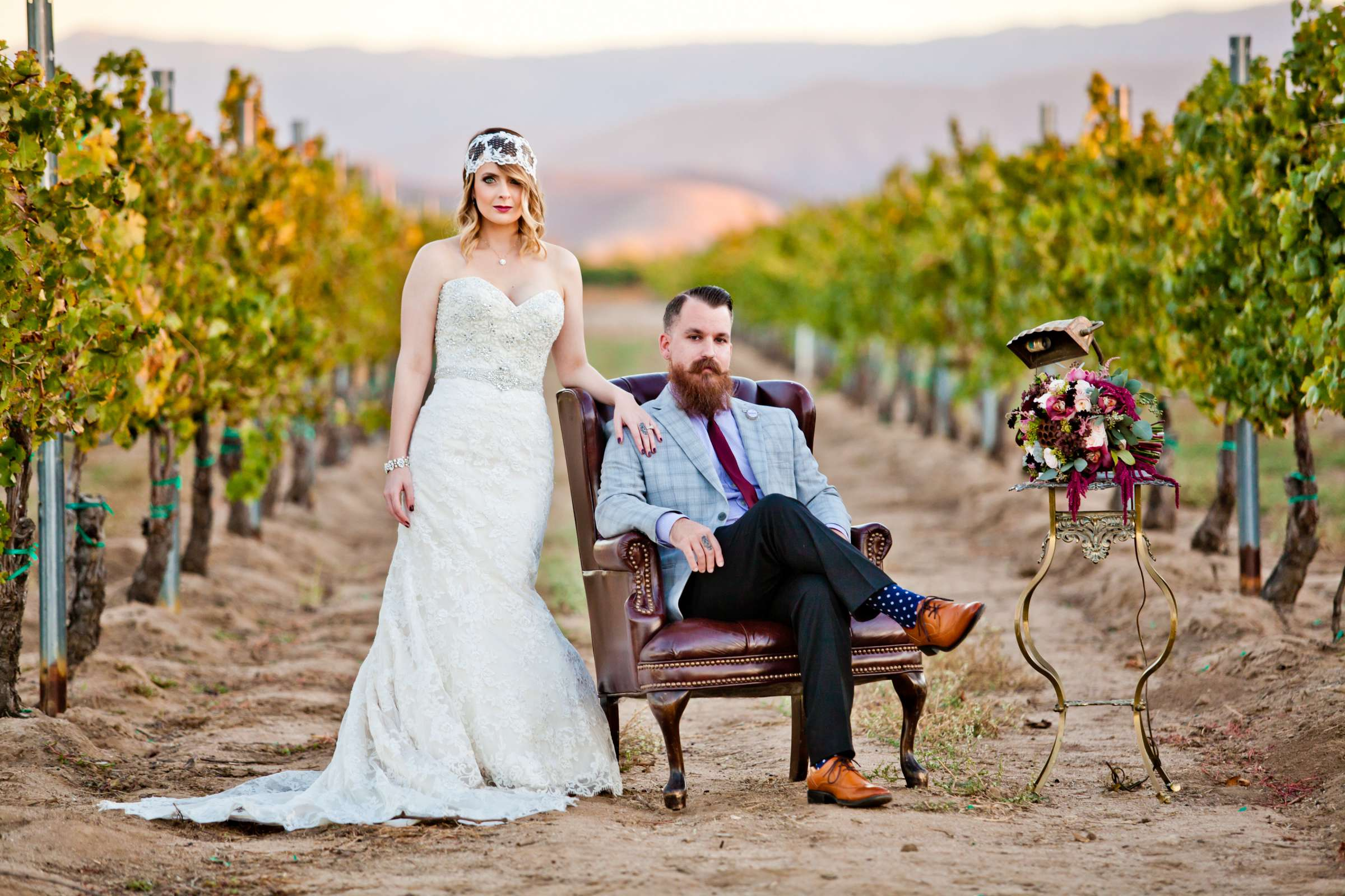 Ponte Estate Winery Wedding coordinated by Seven Stems Floral Design & Events, Rachel and Dustin Wedding Photo #362406 by True Photography
