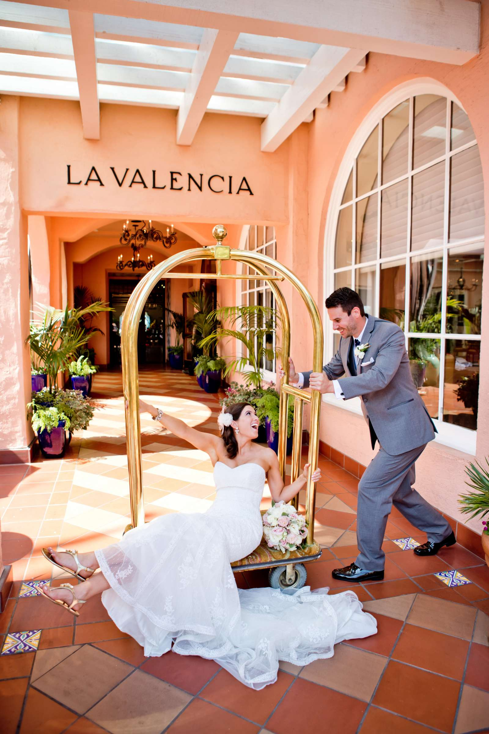 La Valencia Wedding coordinated by Monarch Weddings, Jenny and Britt Wedding Photo #364104 by True Photography