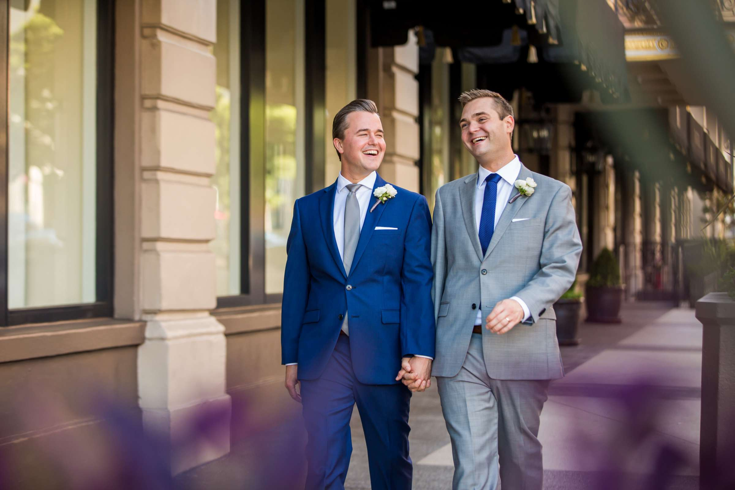 Candid moment at San Diego Courthouse Wedding coordinated by Emily Smiley, Eric and James Wedding Photo #377317 by True Photography