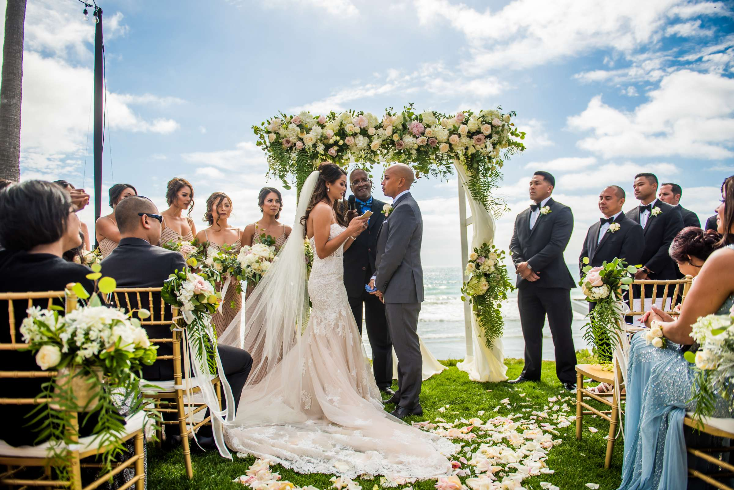 Scripps Seaside Forum Wedding coordinated by Lavish Weddings, Cindy and Justin Wedding Photo #381829 by True Photography