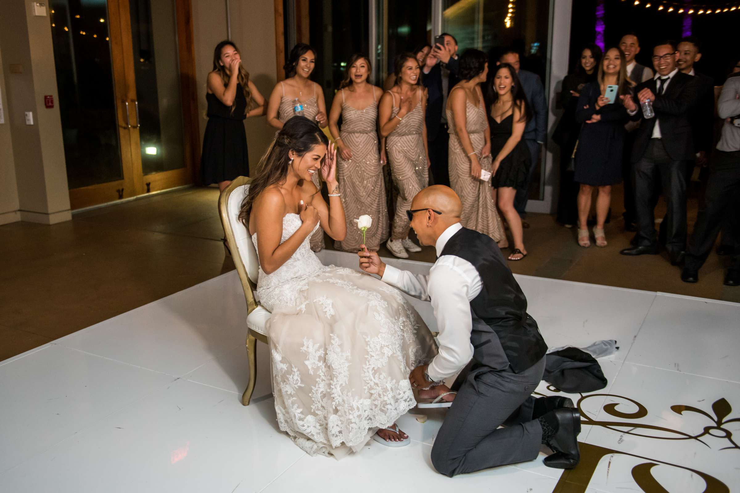 Scripps Seaside Forum Wedding coordinated by Lavish Weddings, Cindy and Justin Wedding Photo #381890 by True Photography