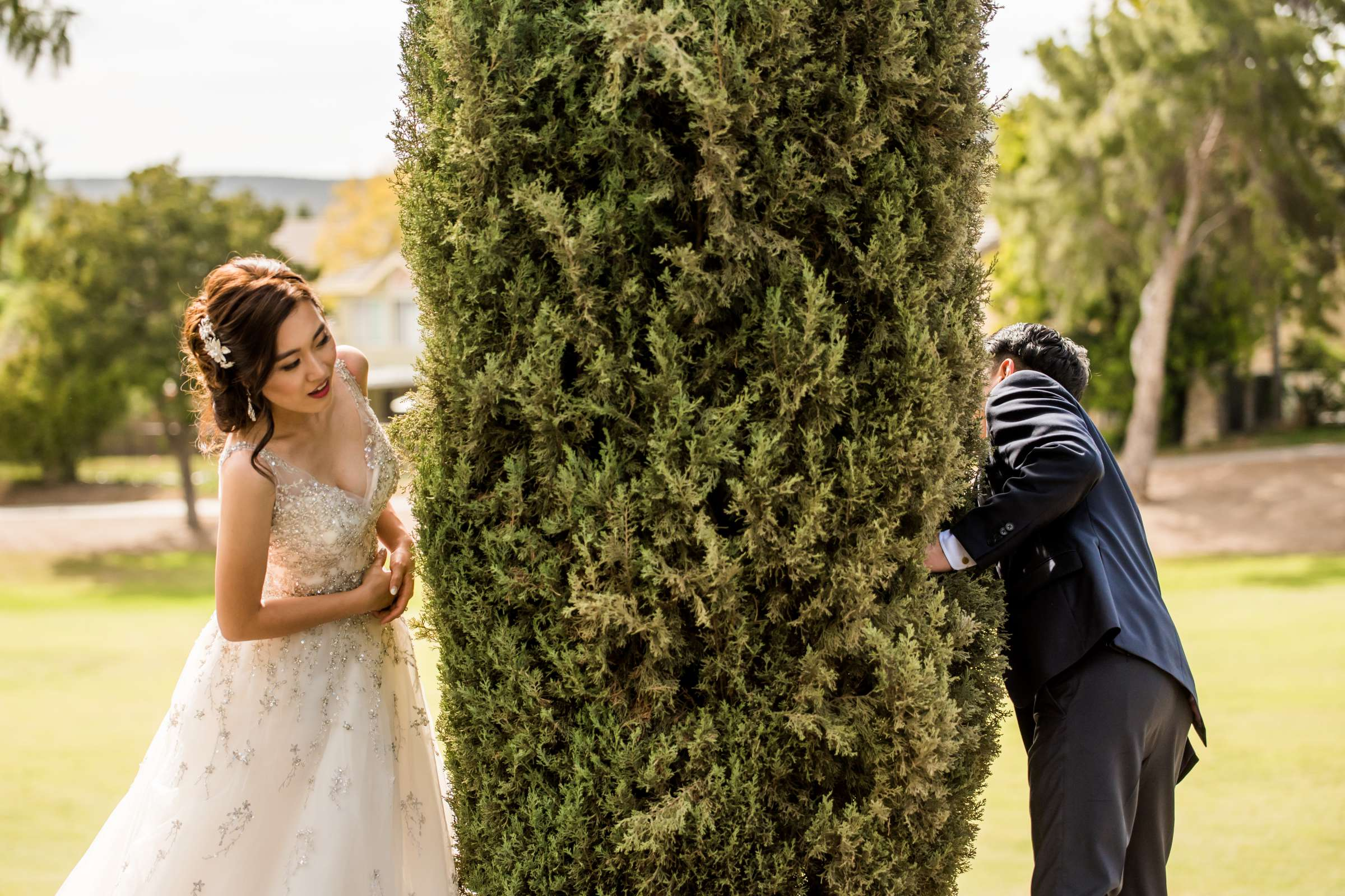 Funny moment at Carmel Mountain Ranch Wedding, Stella and Antonio Wedding Photo #458285 by True Photography