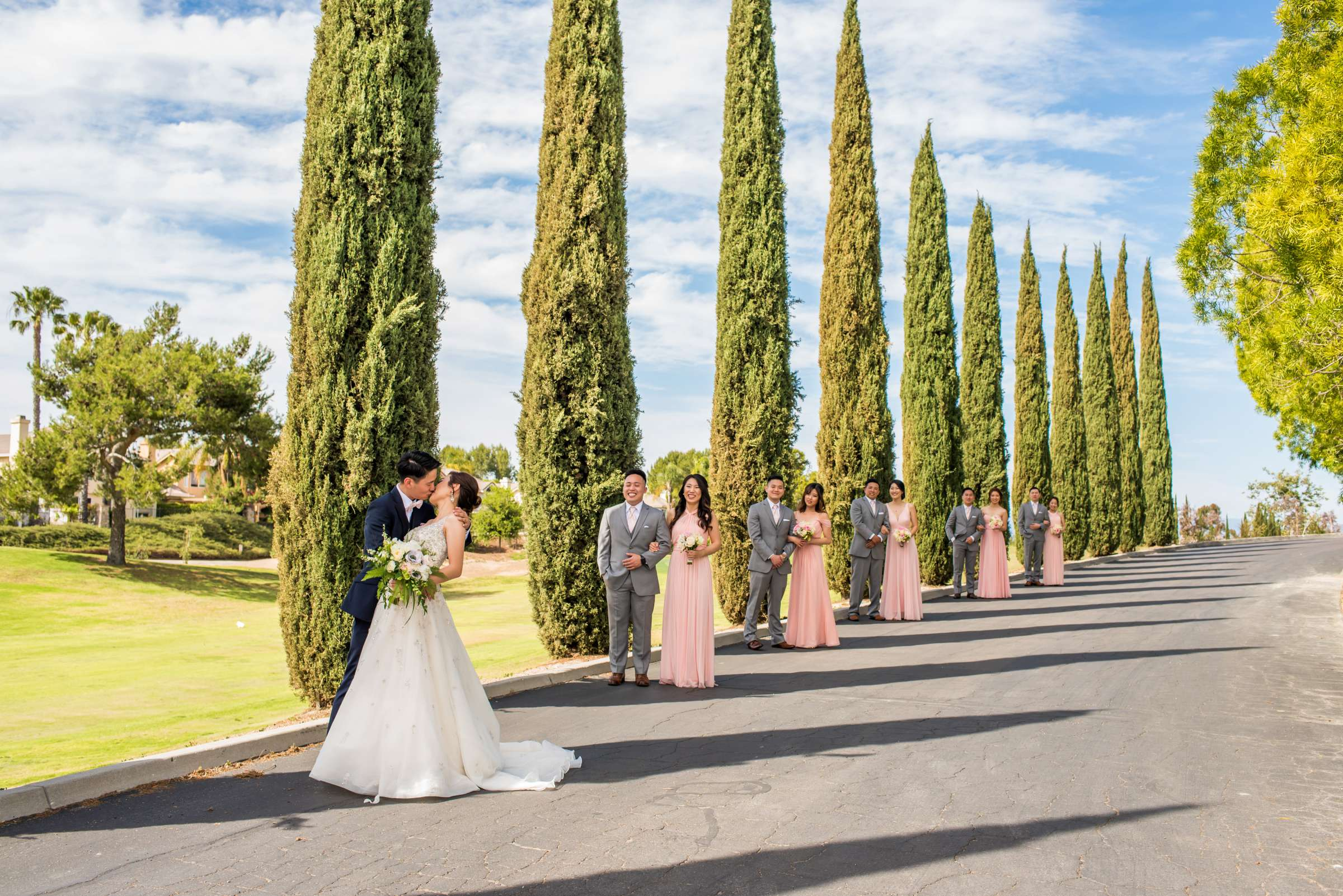 Bridal Party at Carmel Mountain Ranch Wedding, Stella and Antonio Wedding Photo #458289 by True Photography