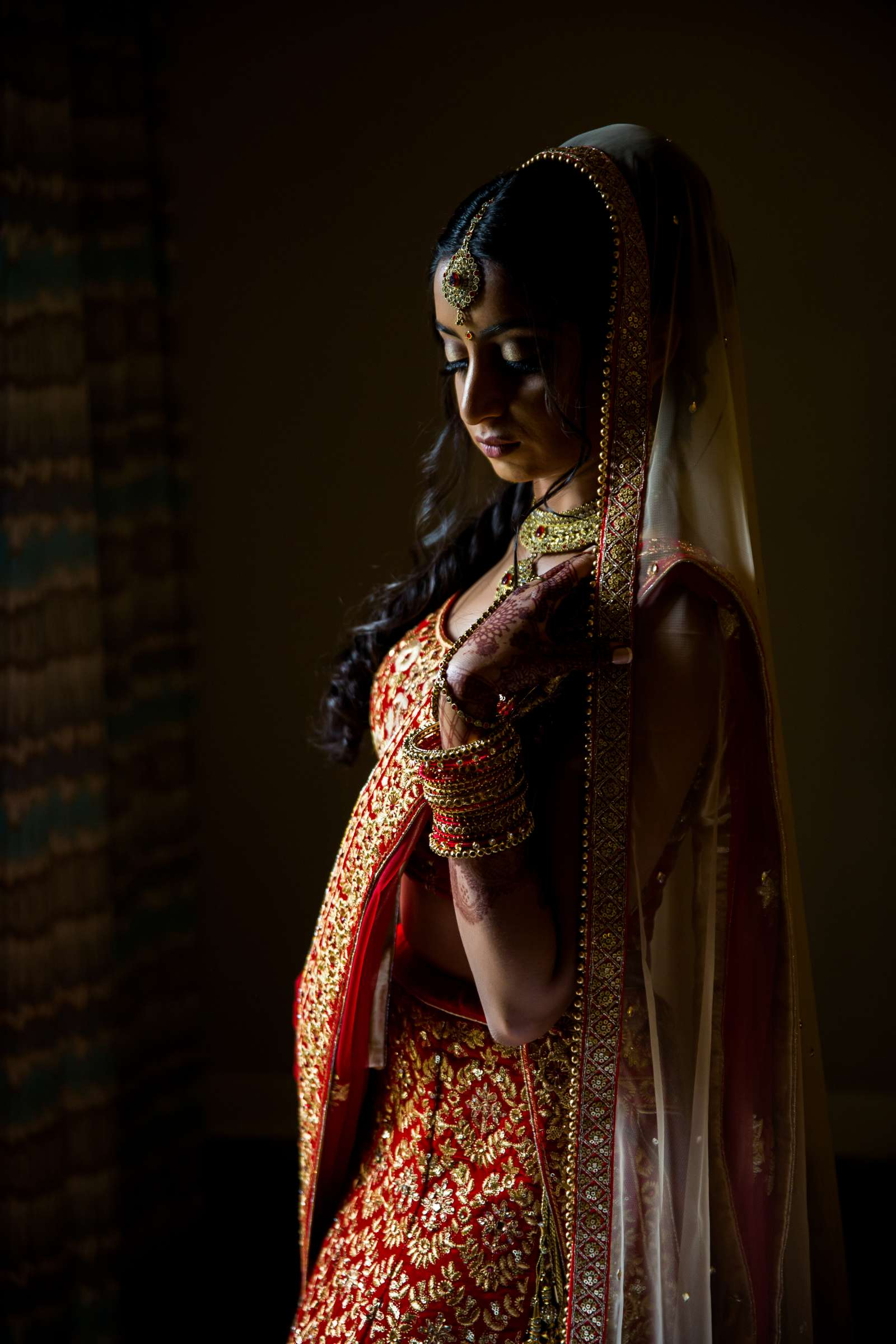 Bride at The Westin Carlsbad Resort and Spa Wedding coordinated by Shilpa Patel Events, Ami and Amit Wedding Photo #6 by True Photography