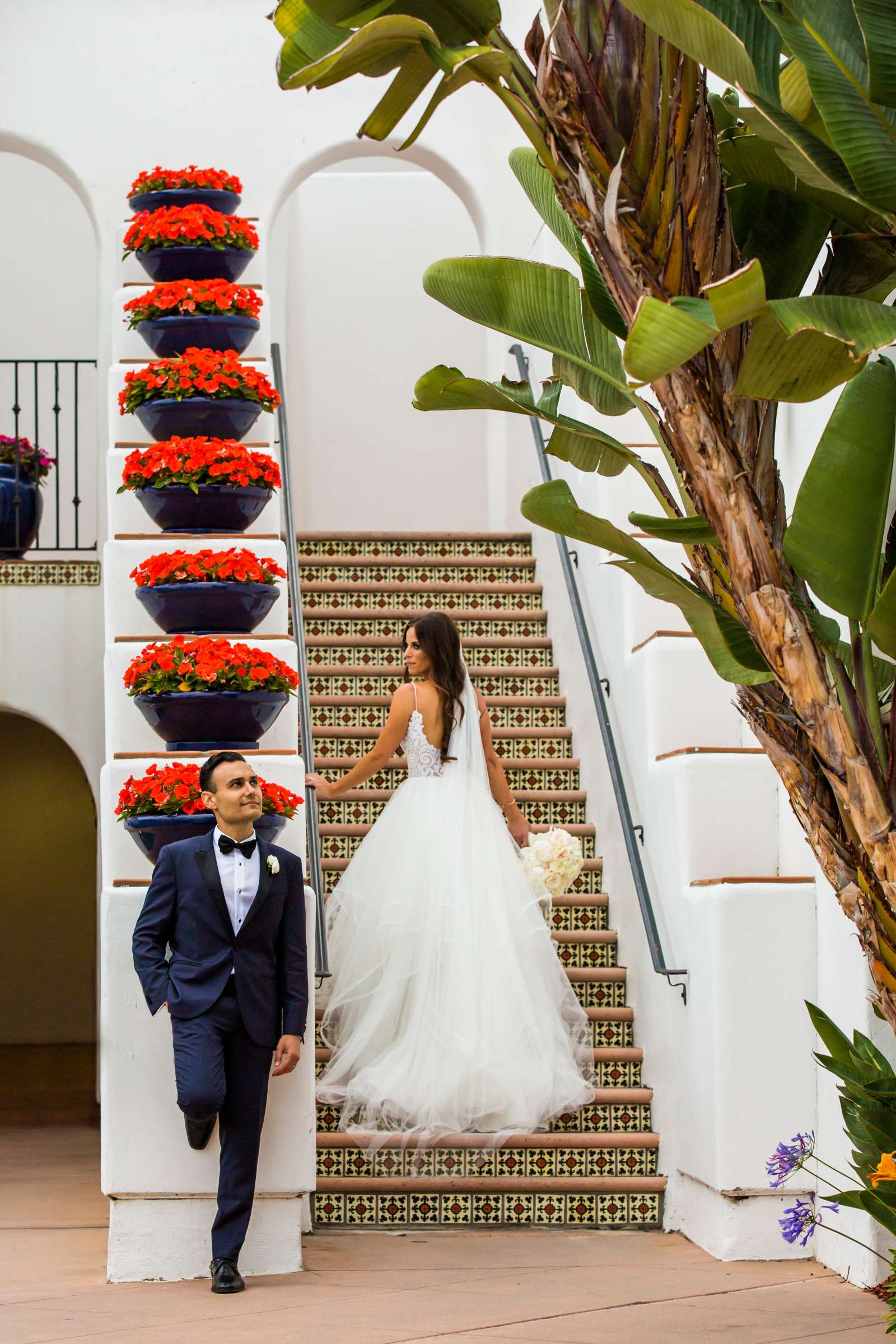 Omni La Costa Resort & Spa Wedding coordinated by Fabulous Two Design, Kristyn and Mani Wedding Photo #3 by True Photography