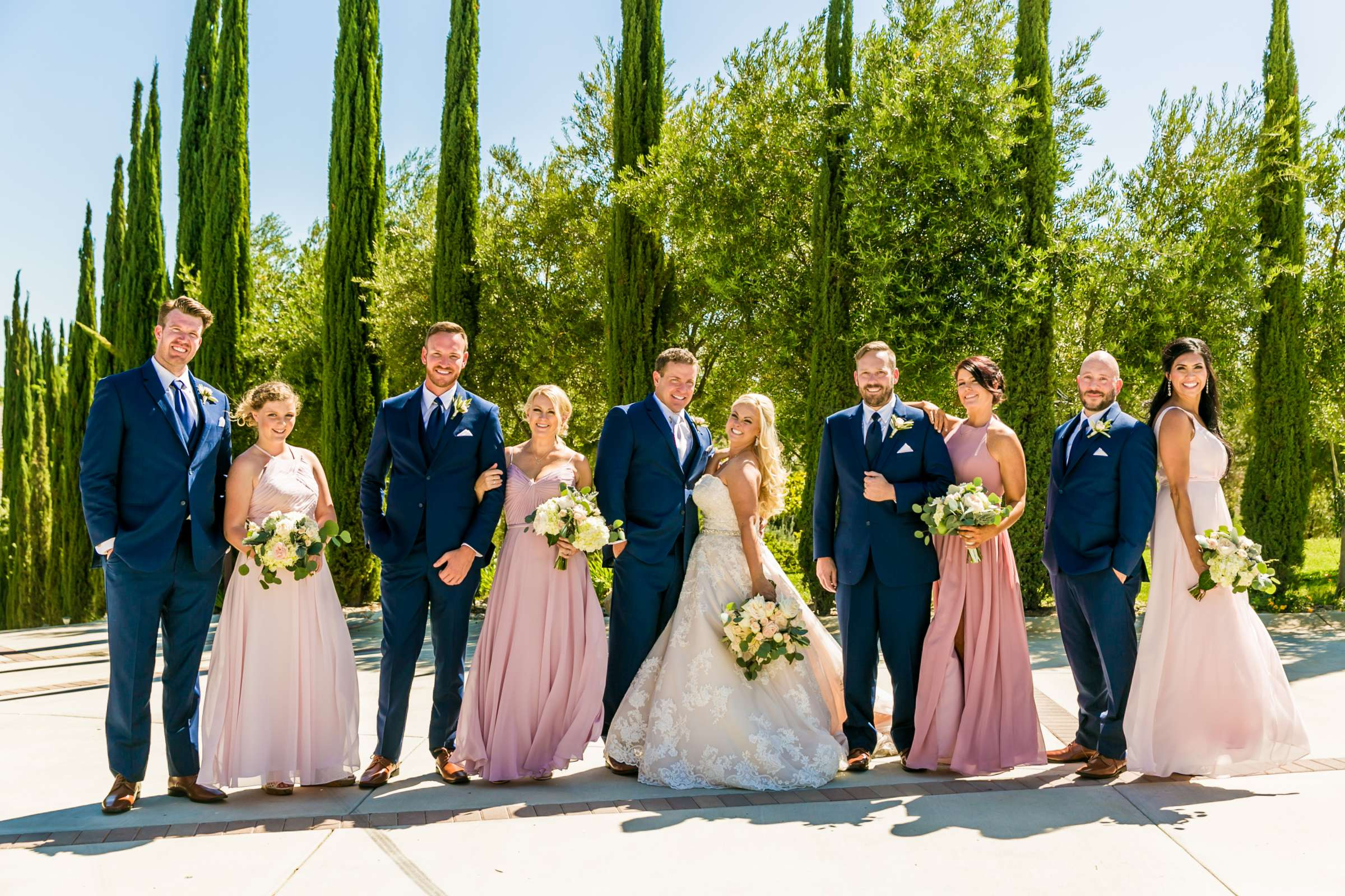 Bridal Party at Mount Palomar Winery Wedding, Meg and Eric Wedding Photo #477448 by True Photography