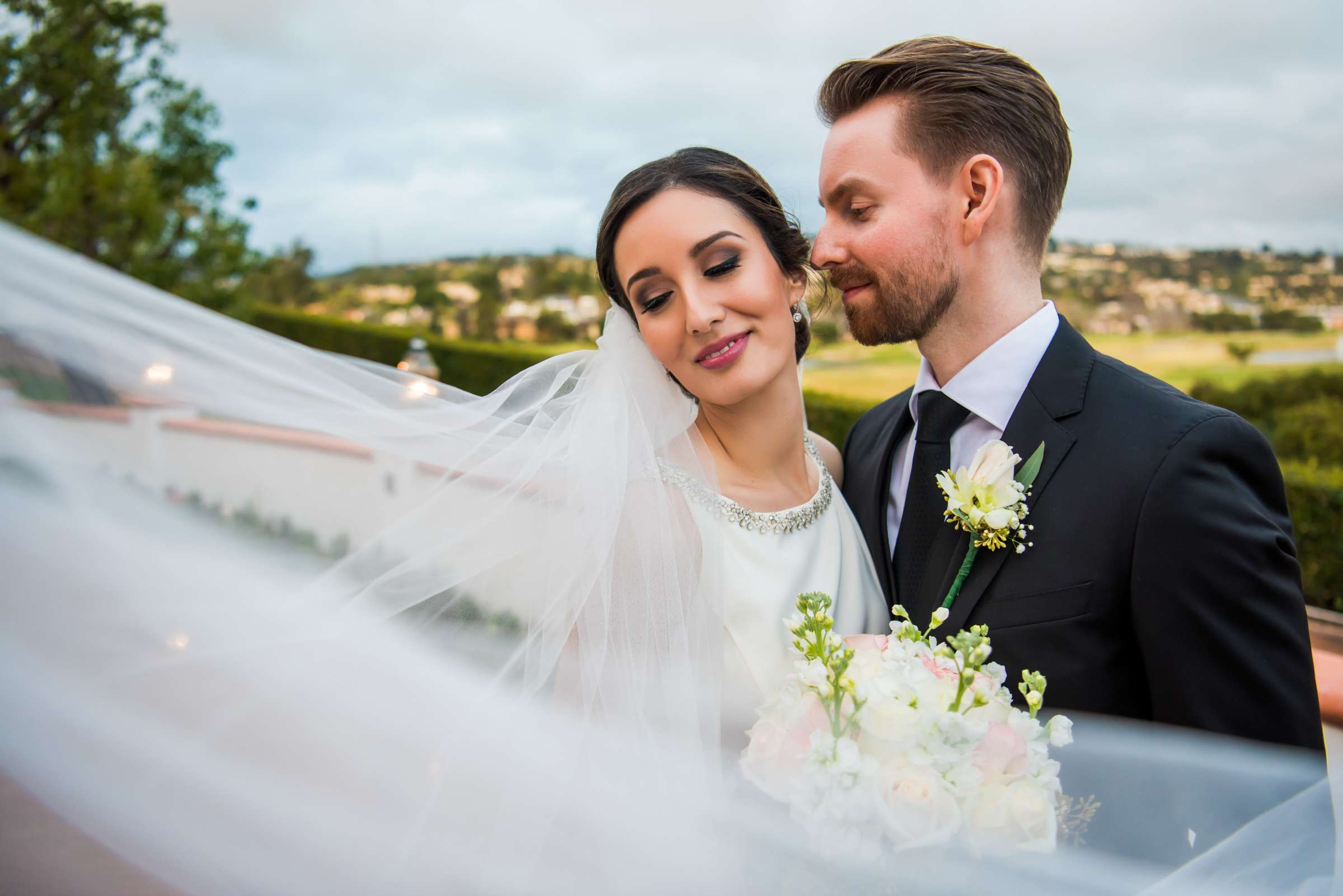 Omni La Costa Resort & Spa Wedding coordinated by Sweet Blossom Weddings, Sarah and Daniel Wedding Photo #2 by True Photography
