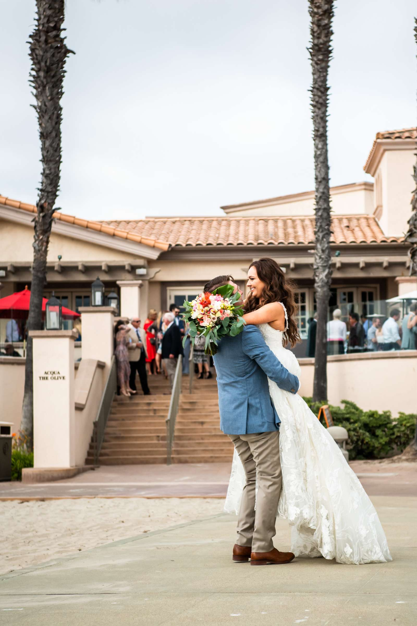 San Diego Mission Bay Resort Wedding coordinated by Cafe Au Love, Lauren and Adam Wedding Photo #3 by True Photography