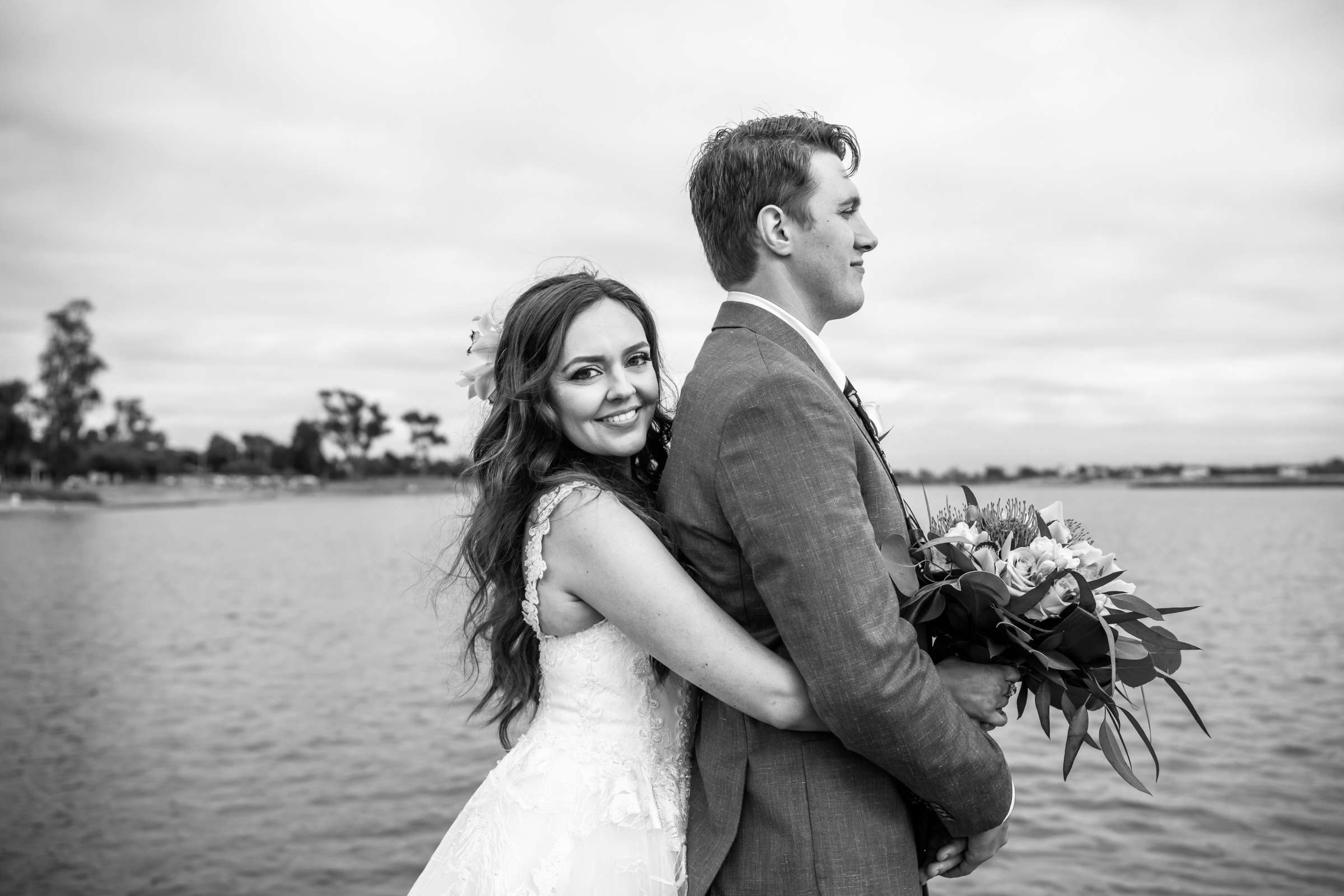 San Diego Mission Bay Resort Wedding coordinated by Cafe Au Love, Lauren and Adam Wedding Photo #5 by True Photography